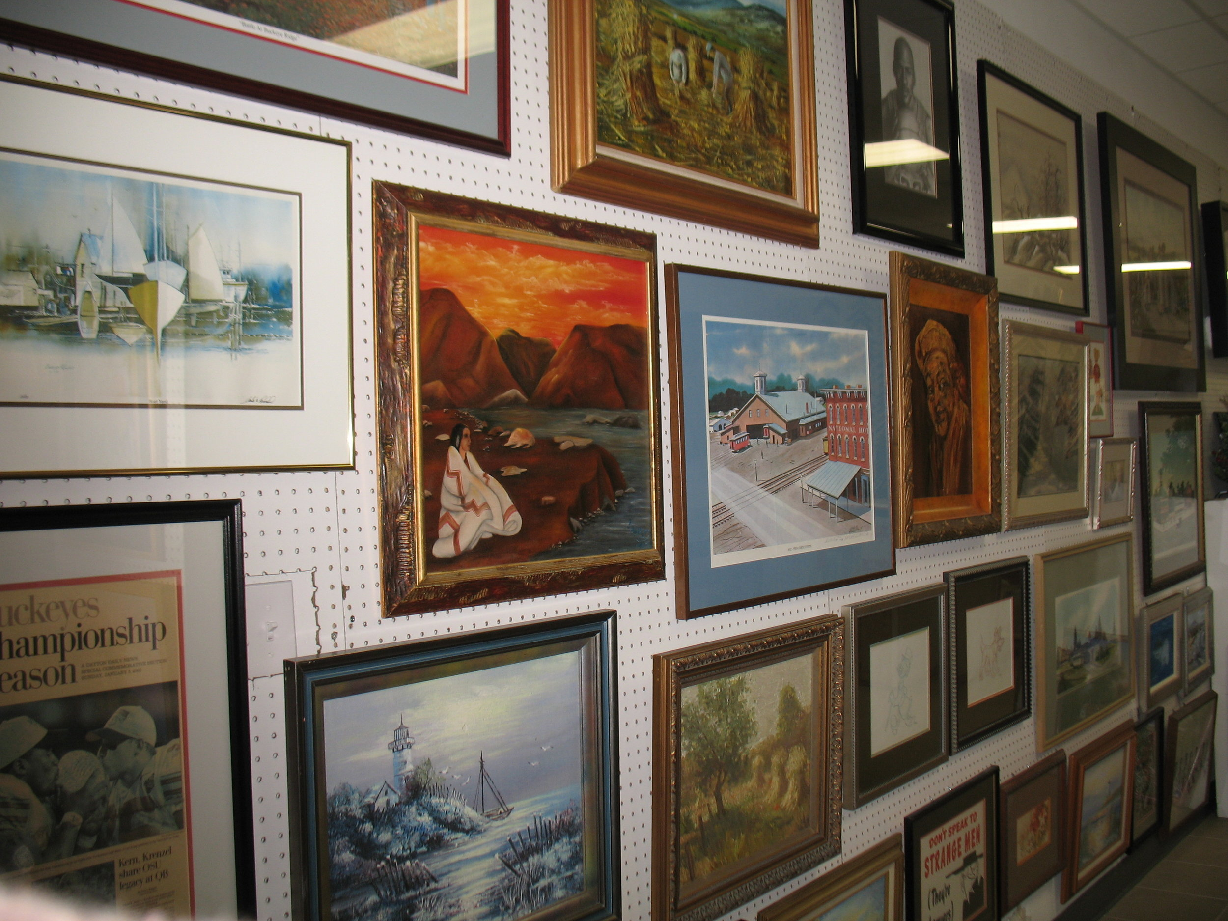 Art   - browse our eclectic selection of  original artLocal artVintage artMemorabilia