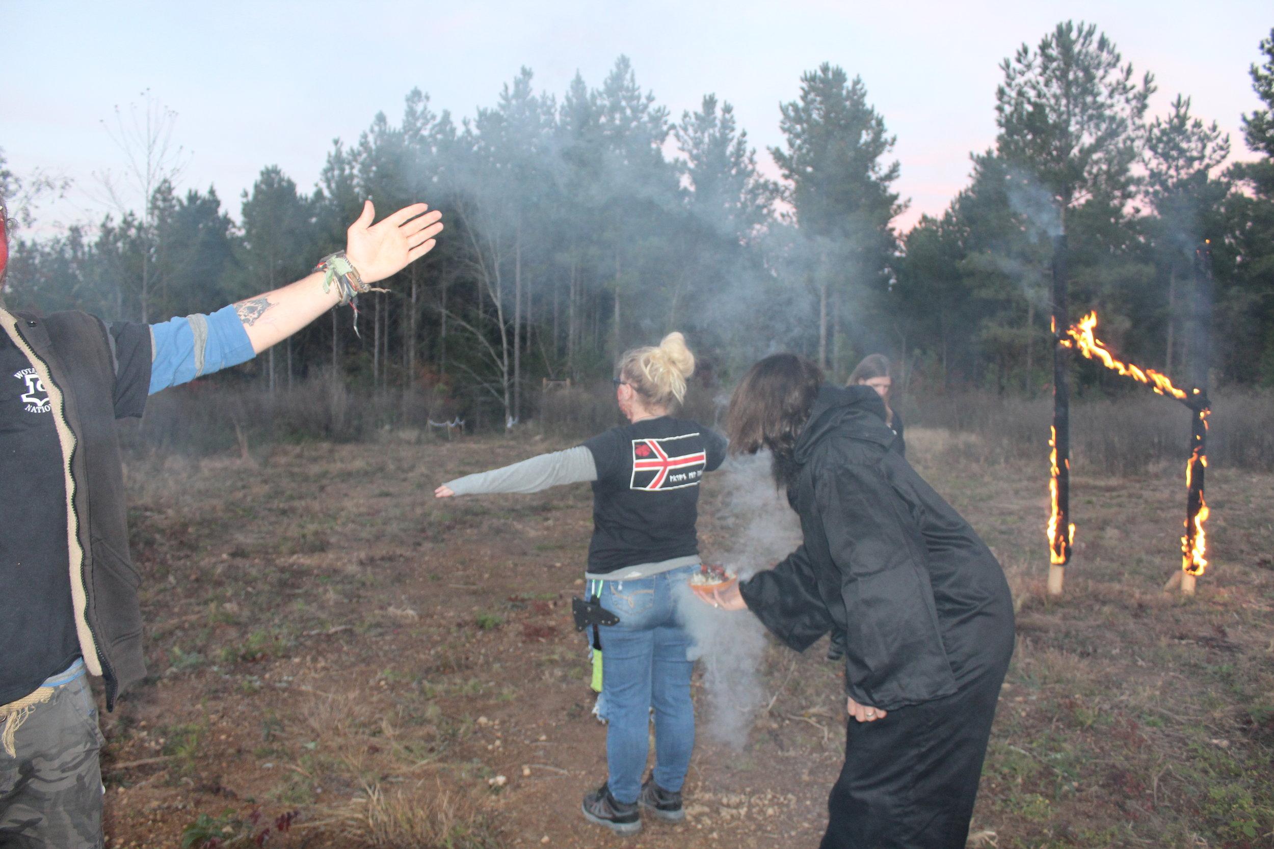Gothi Erik performing the Cleansing Ritual.