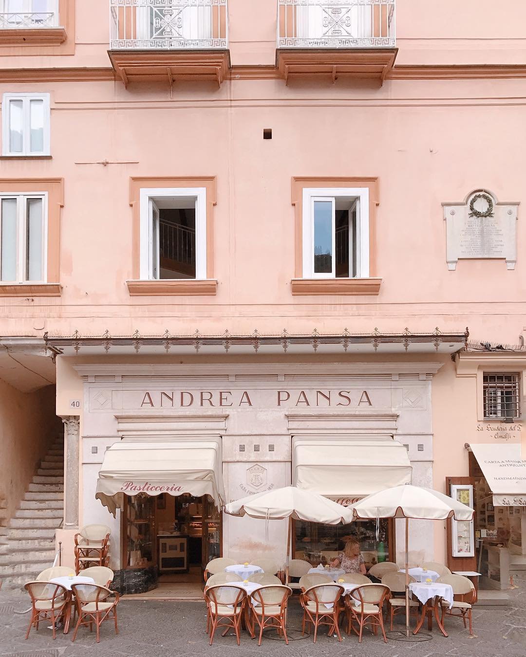 This beautiful  cafe  /pastry  shop on the Amalfi coast contains over 180 years of history. Writers and musicians, aristocrats and commoners have been beguiled by its sweets, cookies, candied fruit and chocolates.