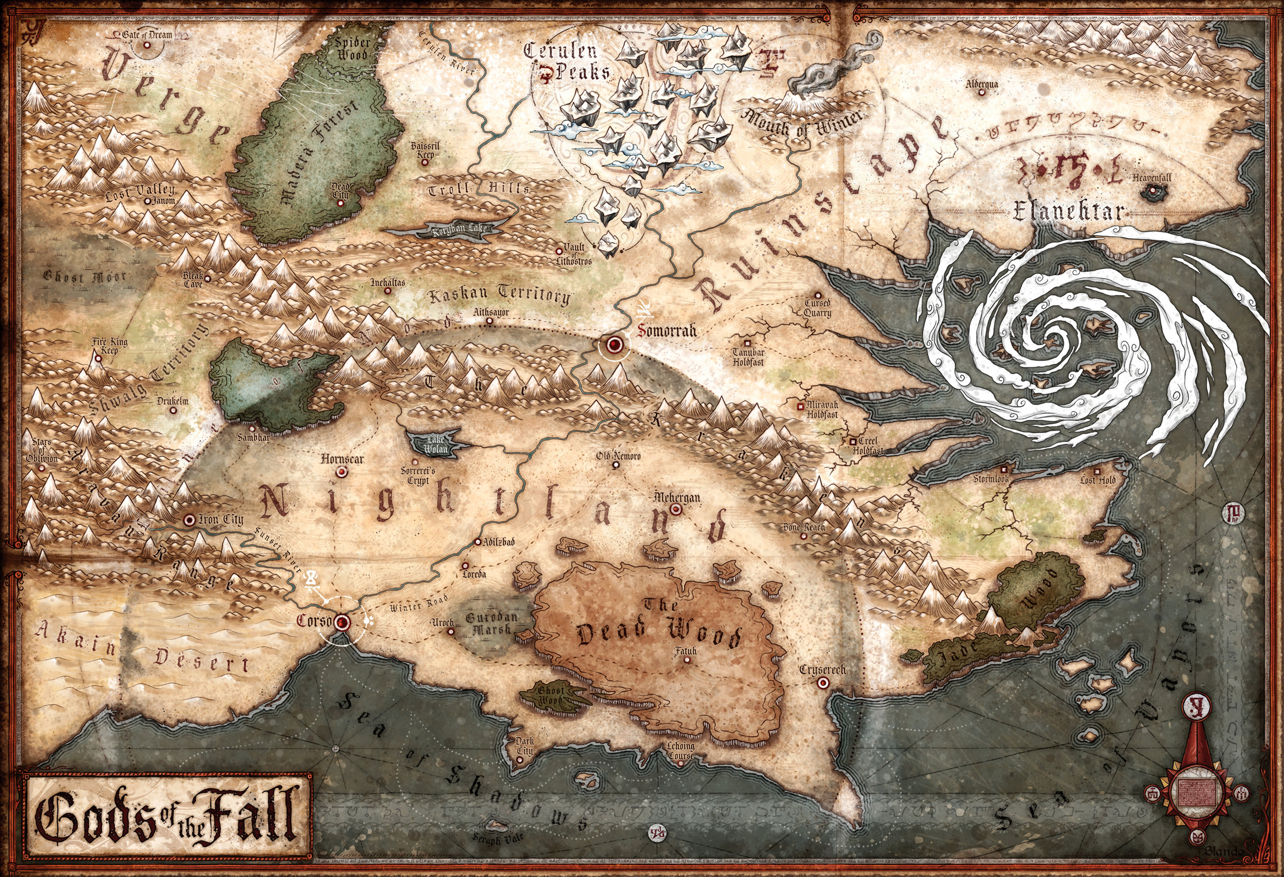 Gods of the Fall: A map of the world