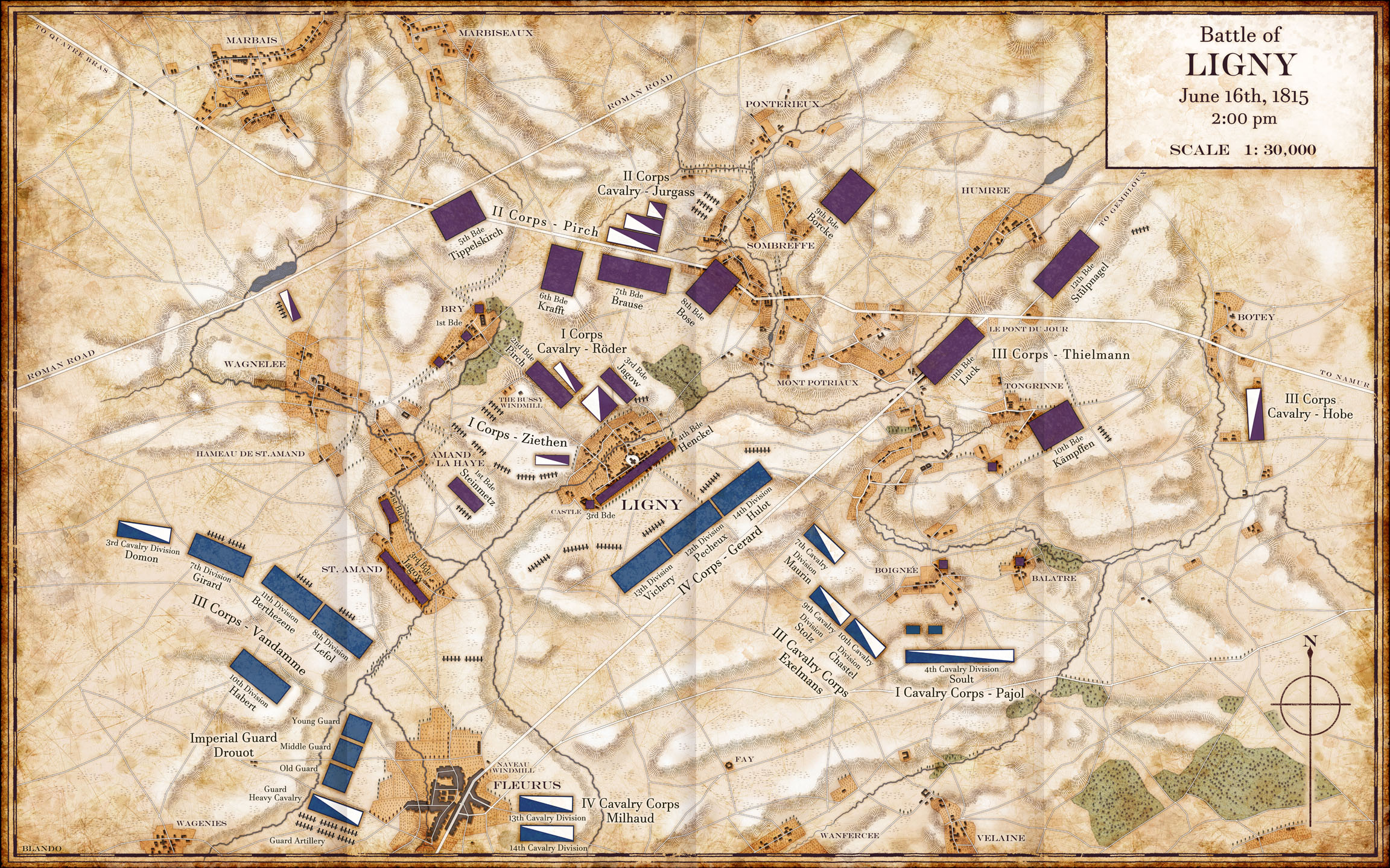 The Battle of Ligny : Napoleonic Campaigns