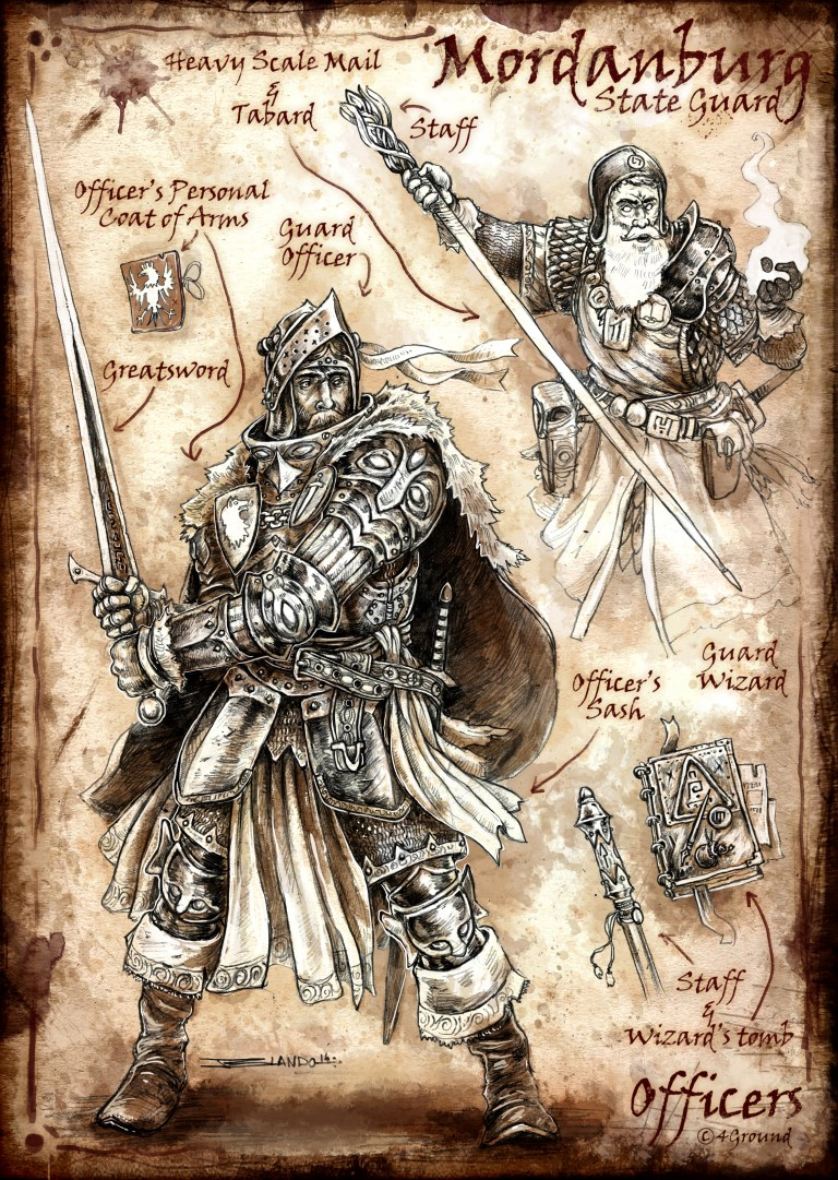 Mordanburg State Guard Faction : Officers and Mages