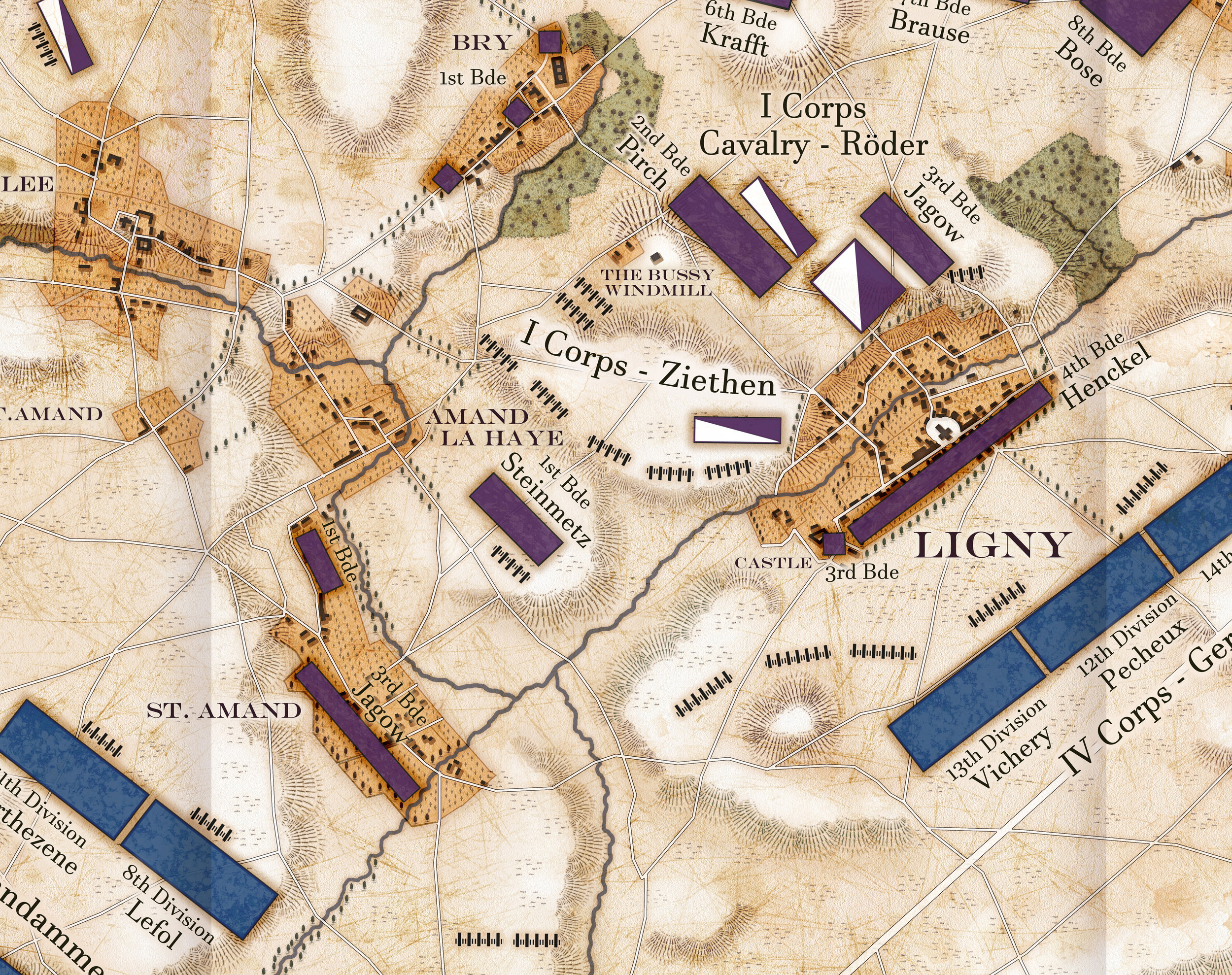 The Battle of Ligny : Napoleonic Campaigns Detail 1