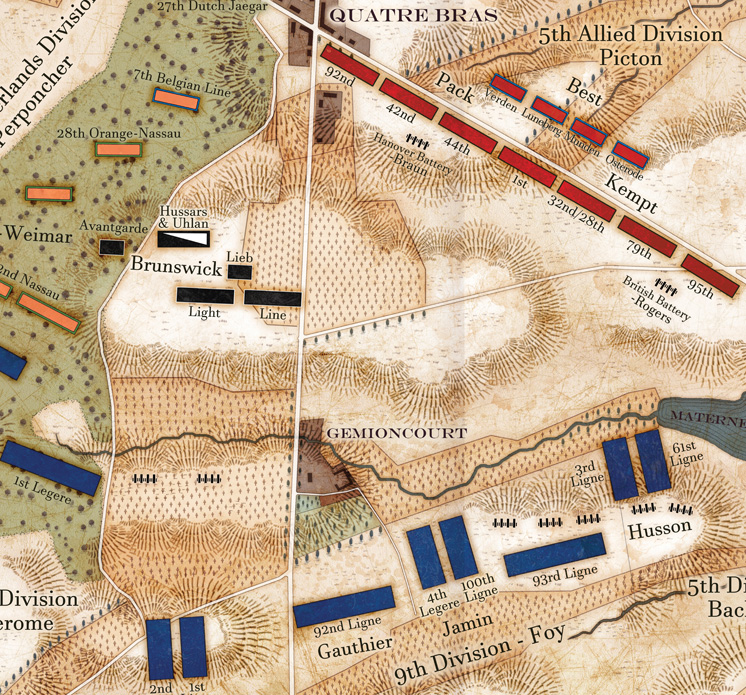 Battle of Quatre Bras : Napoleonic Campaigns Detail 1
