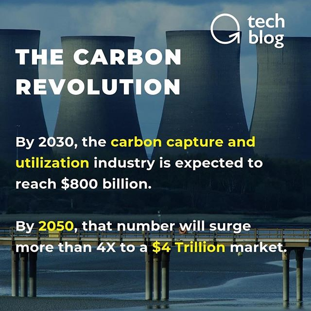 #Repost @peterdiamandis ・・・ What will be the next TRILLION dollar industry? ♻️ A vital component of every life form on Earth, carbon stands at the core of our manufacturing, energy, transportation, among the world's highest-valued industries.  And in the coming 10 years, sourcing carbon out of the air will become more cost-effective than carbon sourced from the ground (oil). A massive industry is forming around carbon utilization technology.  By 2030, the carbon capture and utilization industry is expected to reach $800 billion. And by 2050, that number will surge more than 4X to a $4 Trillion market, according to McKinsey.  Learn more about carbon technologies at this link --  https://www.diamandis.com/blog/direct-air-capture  #CO2 #carbon #environment #disruption