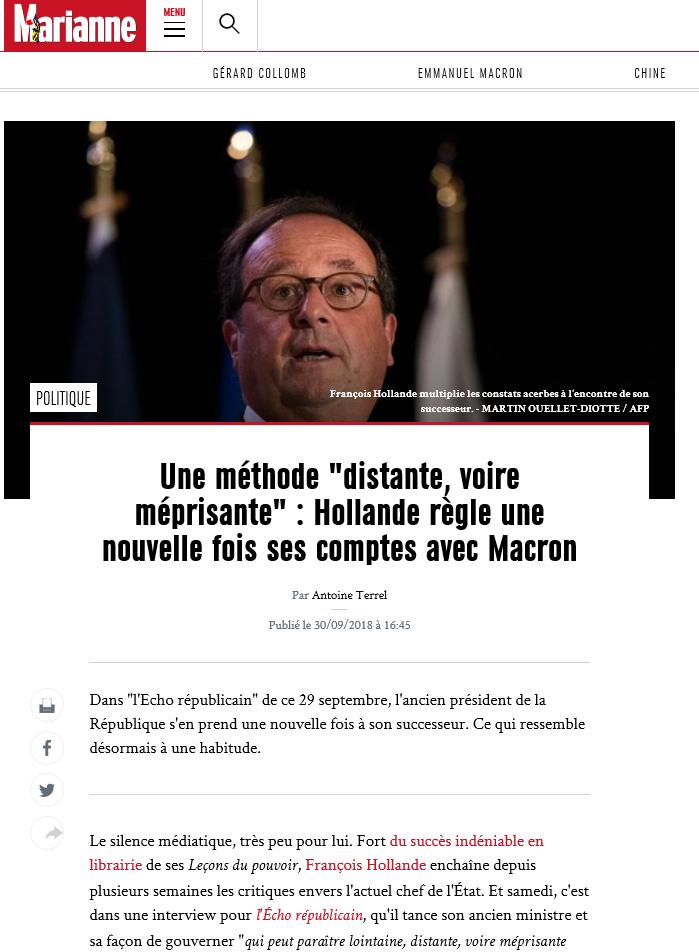 2018-10-02 16_45_26-Une méthode _distante, voire méprisante_ _ Hollande règle une nouvelle fois ses .png