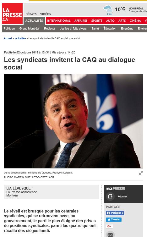 2018-10-02 17_17_11-Les syndicats invitent la CAQ au dialogue social _ LIA LÉVESQUE _ Actualités - I.png