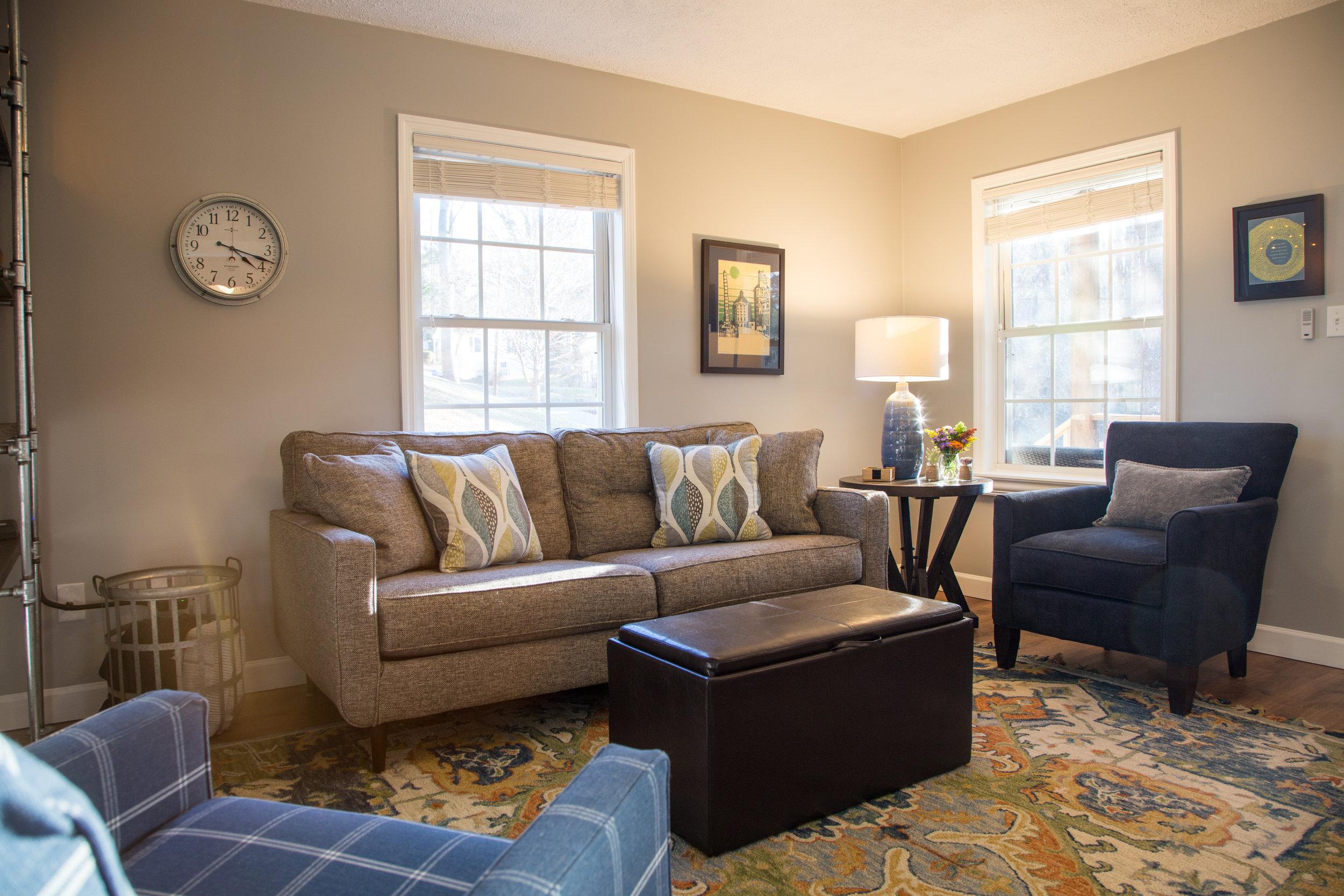 Cozy, yet spacious living area.