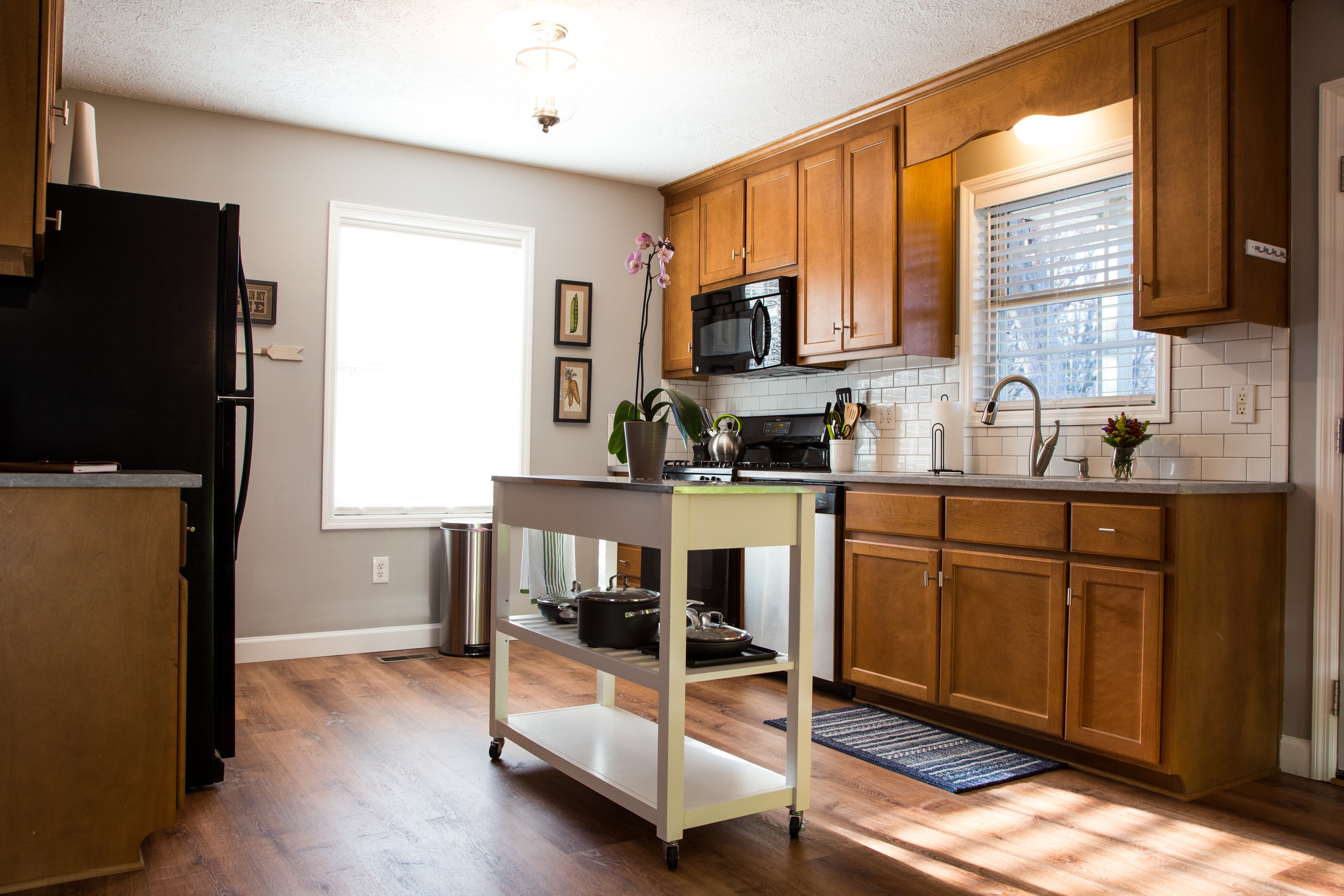 Large, update, and fully equipped kitchen.
