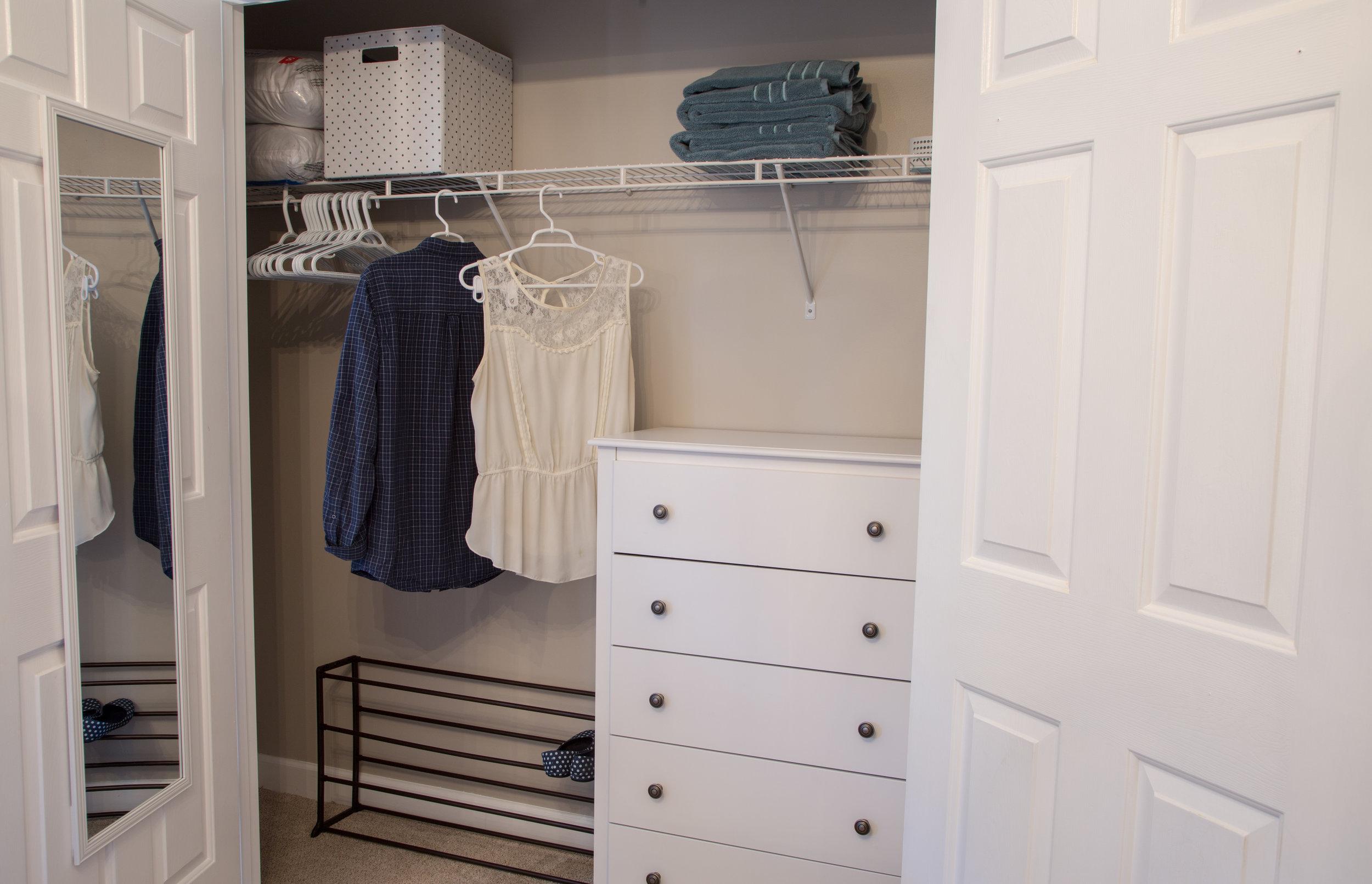 Spacious closets throughout.