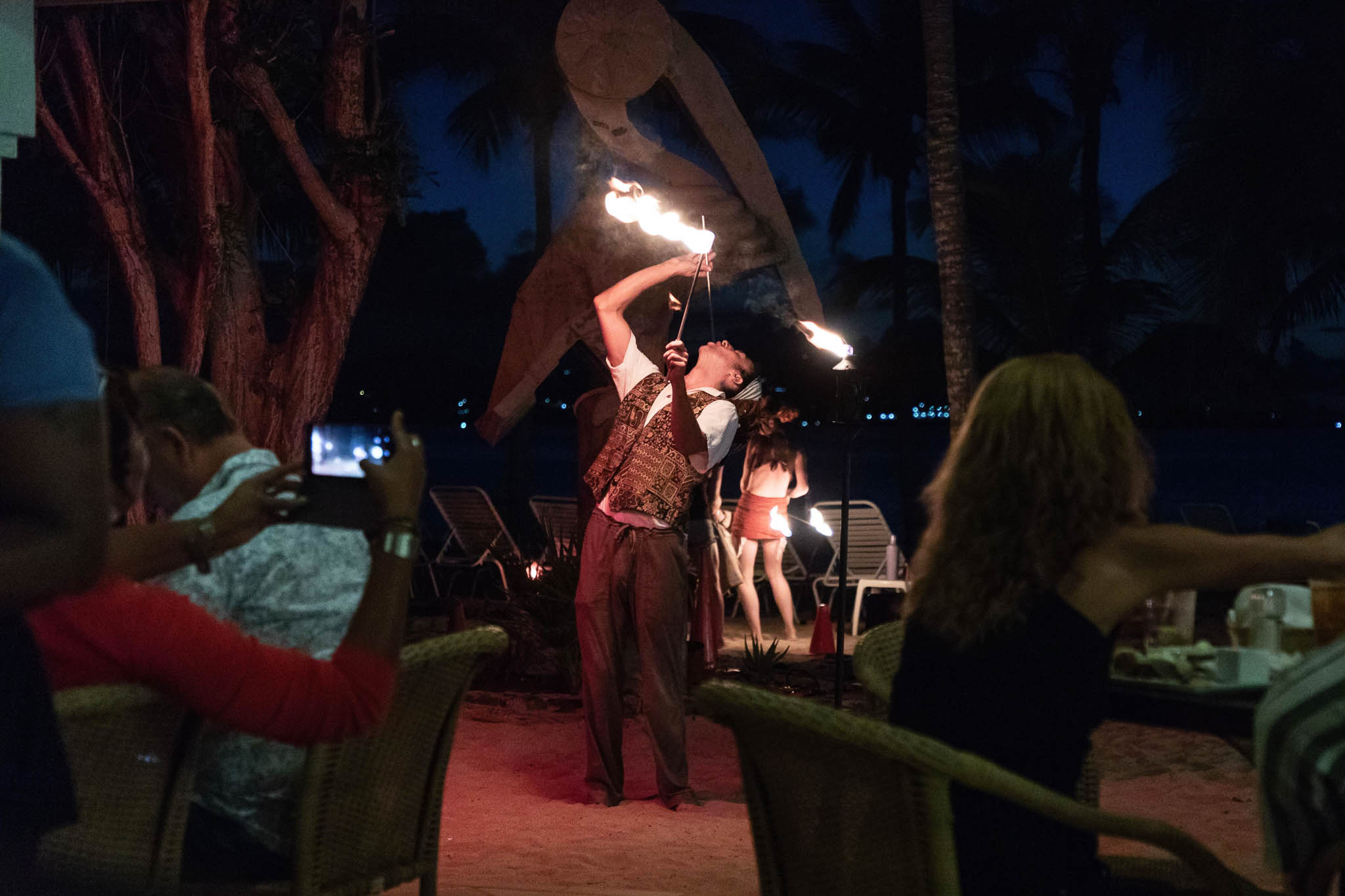 The fire dancers were amazing. I kept expecting someone's hair or mouth to catch on fire haha.
