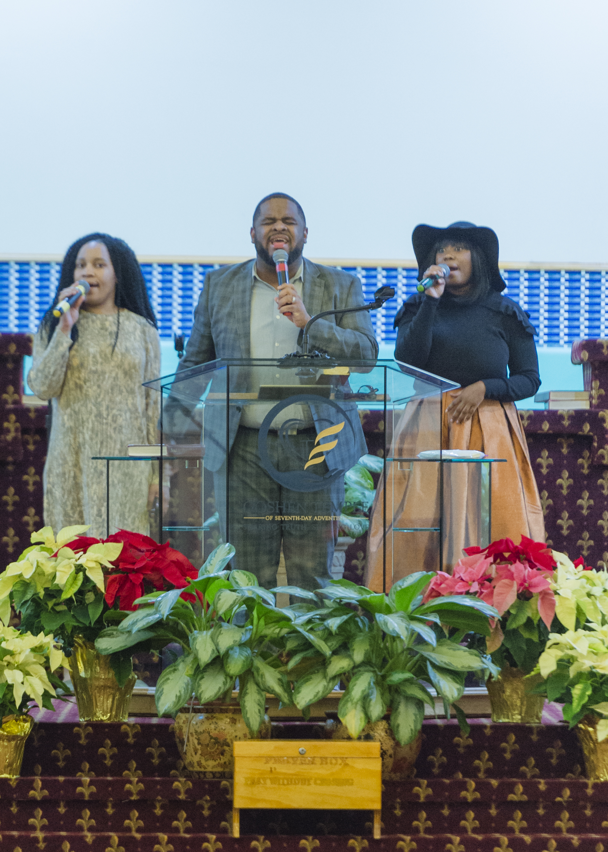 WELCOME TO   GOSHEN TEMPLE   OF SEVENTH-DAY ADVENTISTS   Worship With Us