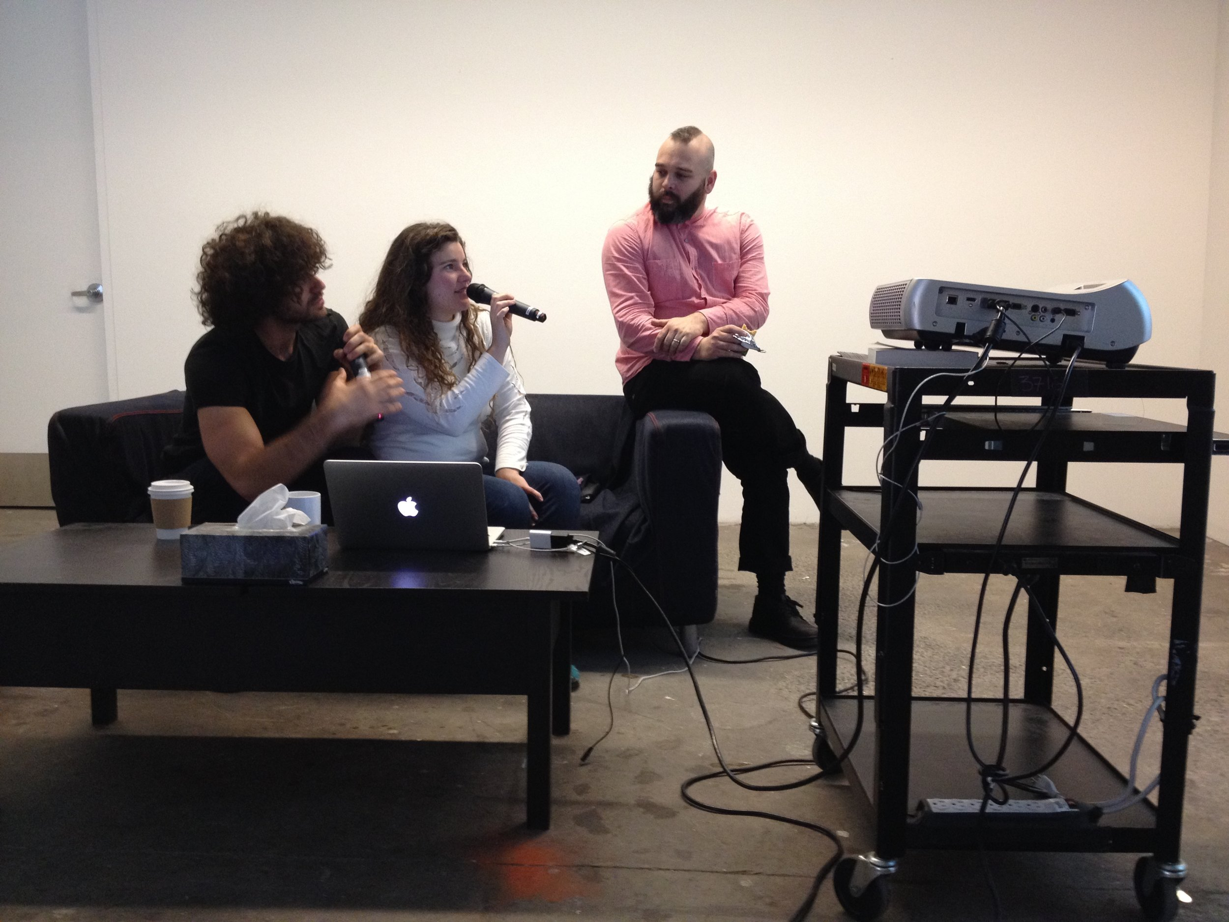 "Delete my e-flux , documentation from six-hour ""email deletion jam"" performance, 2015"