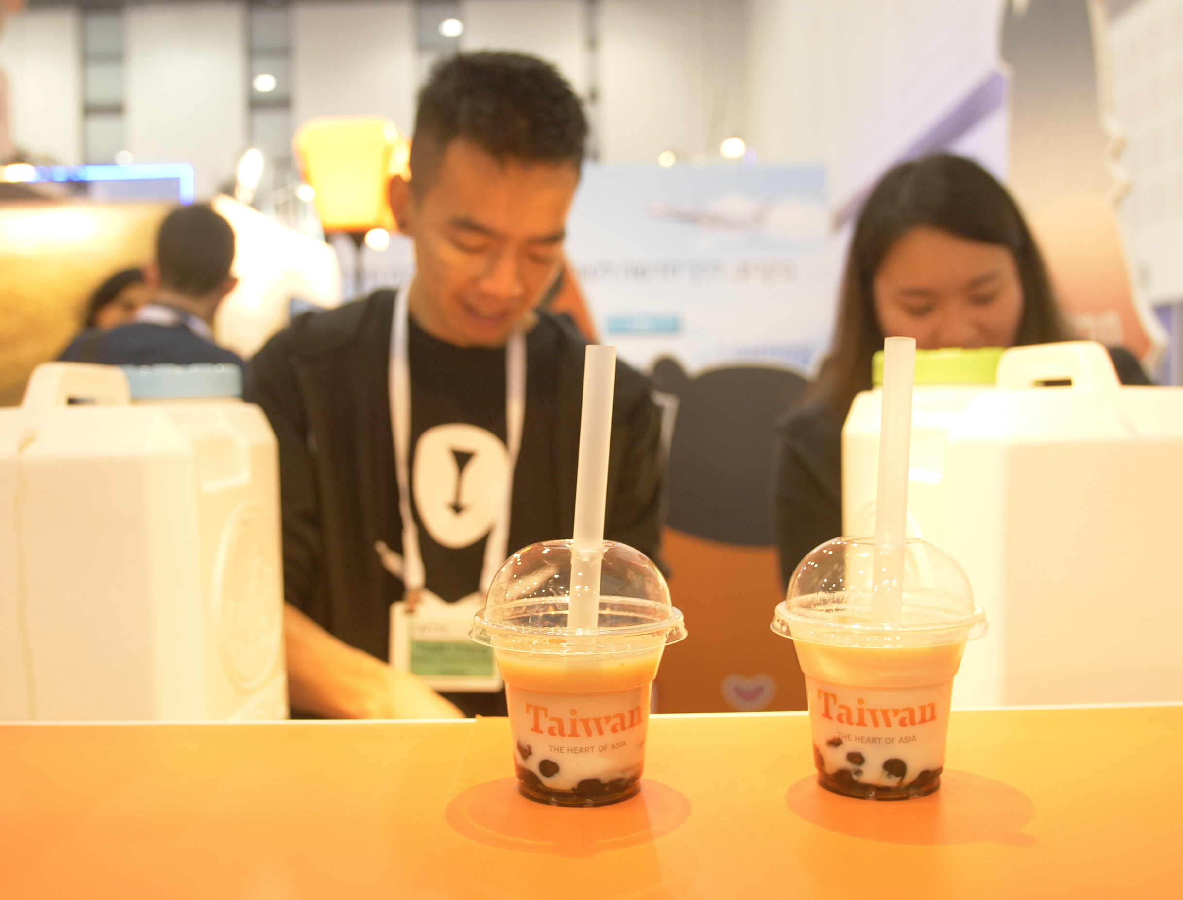 Hundreds of cups of bubble milk tea were made available.png