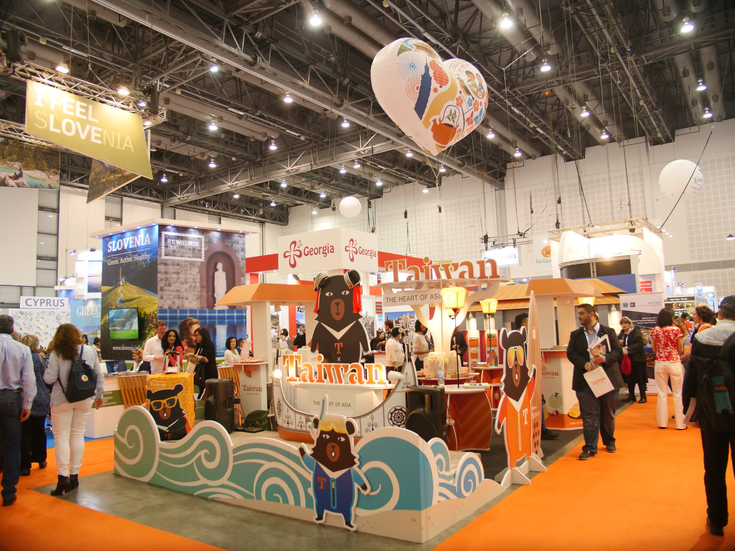 Taiwan's IMTM booth was constructed entirely froma patented extra thick recycled cardboard.JPG