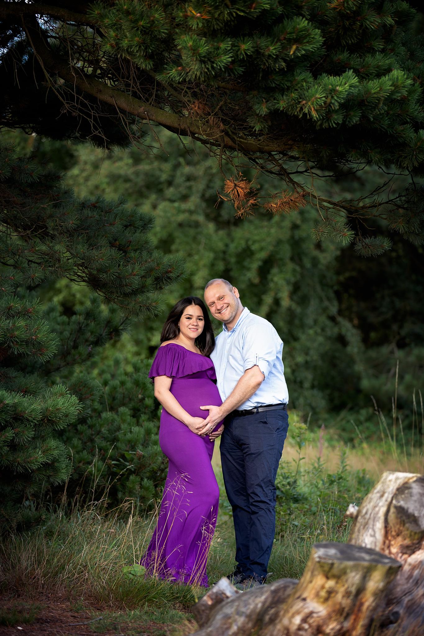 Couple maternity photoshoot in Leeds, West Yorkshire