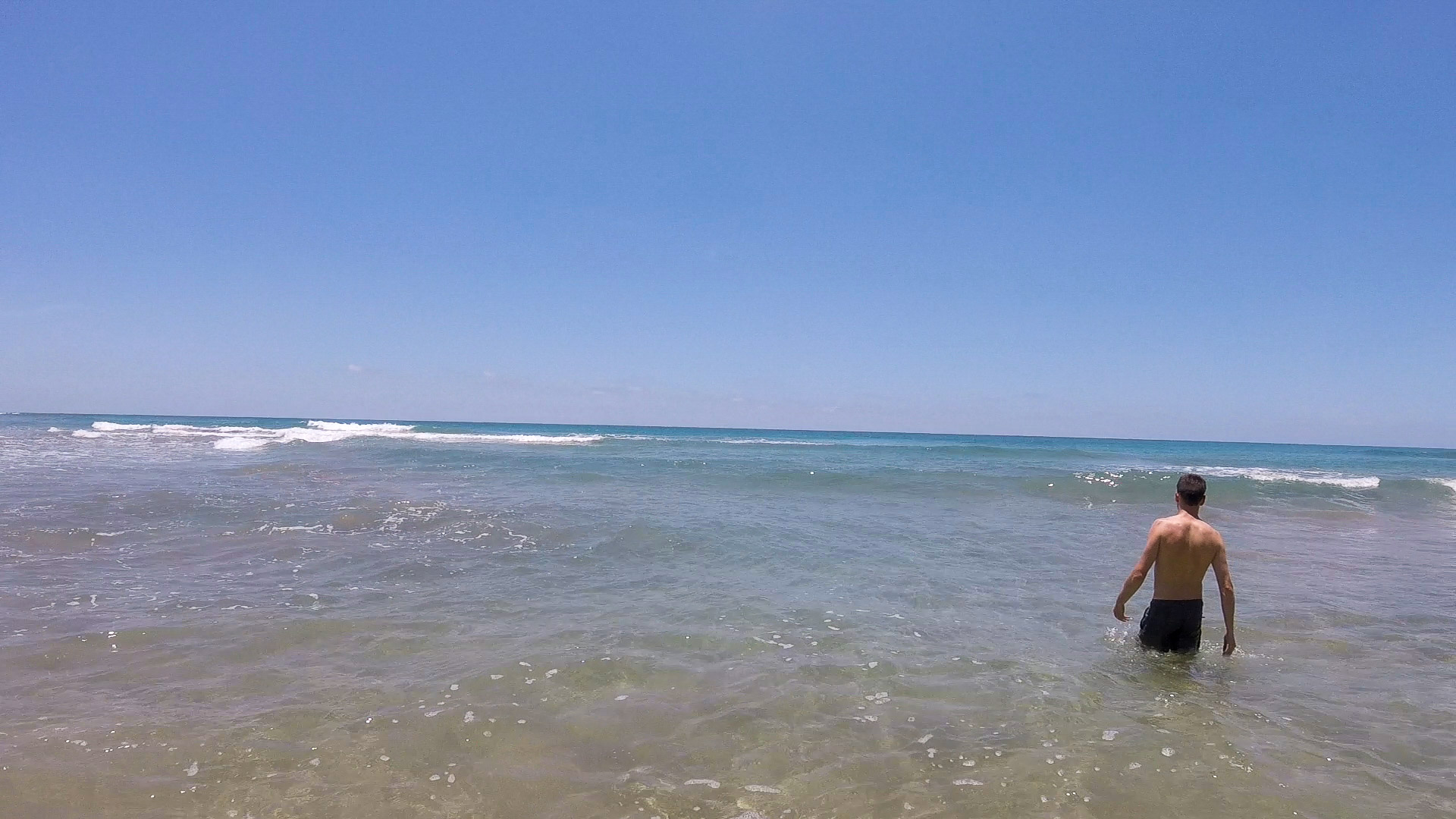 Clear waters at the north end of Playa Grande