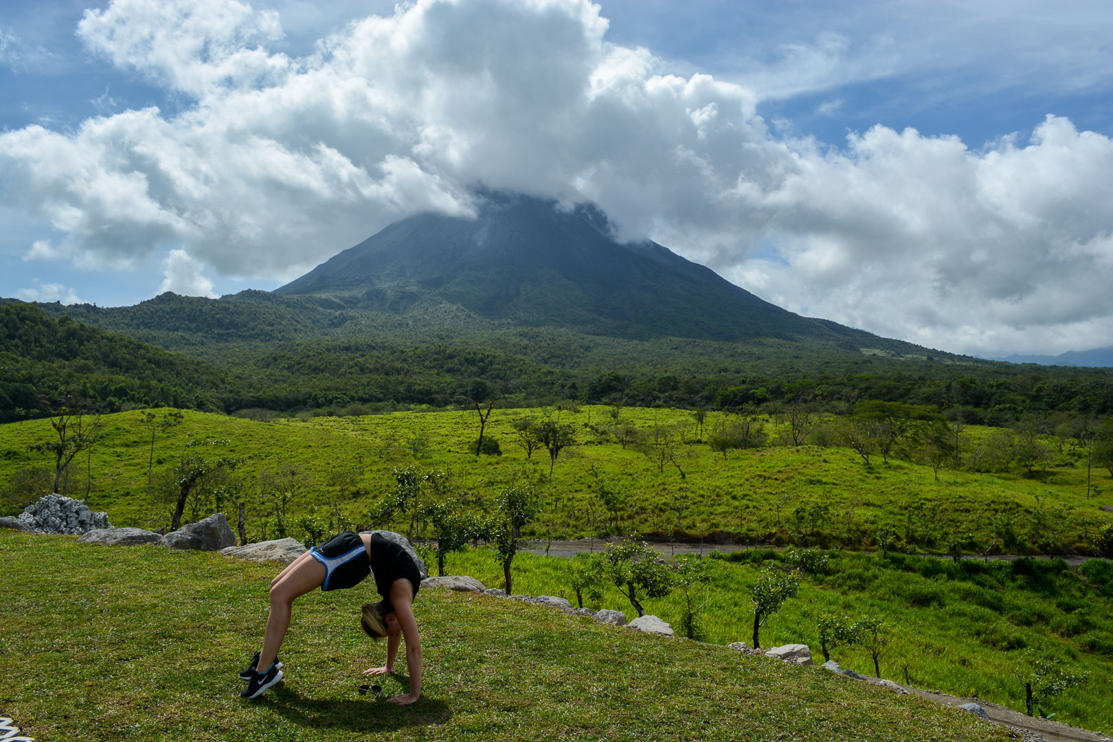 Oh hello, Arenal Volcano! I got tired of just standing and smiling, so enter the only yoga pose I am confident enough to do.