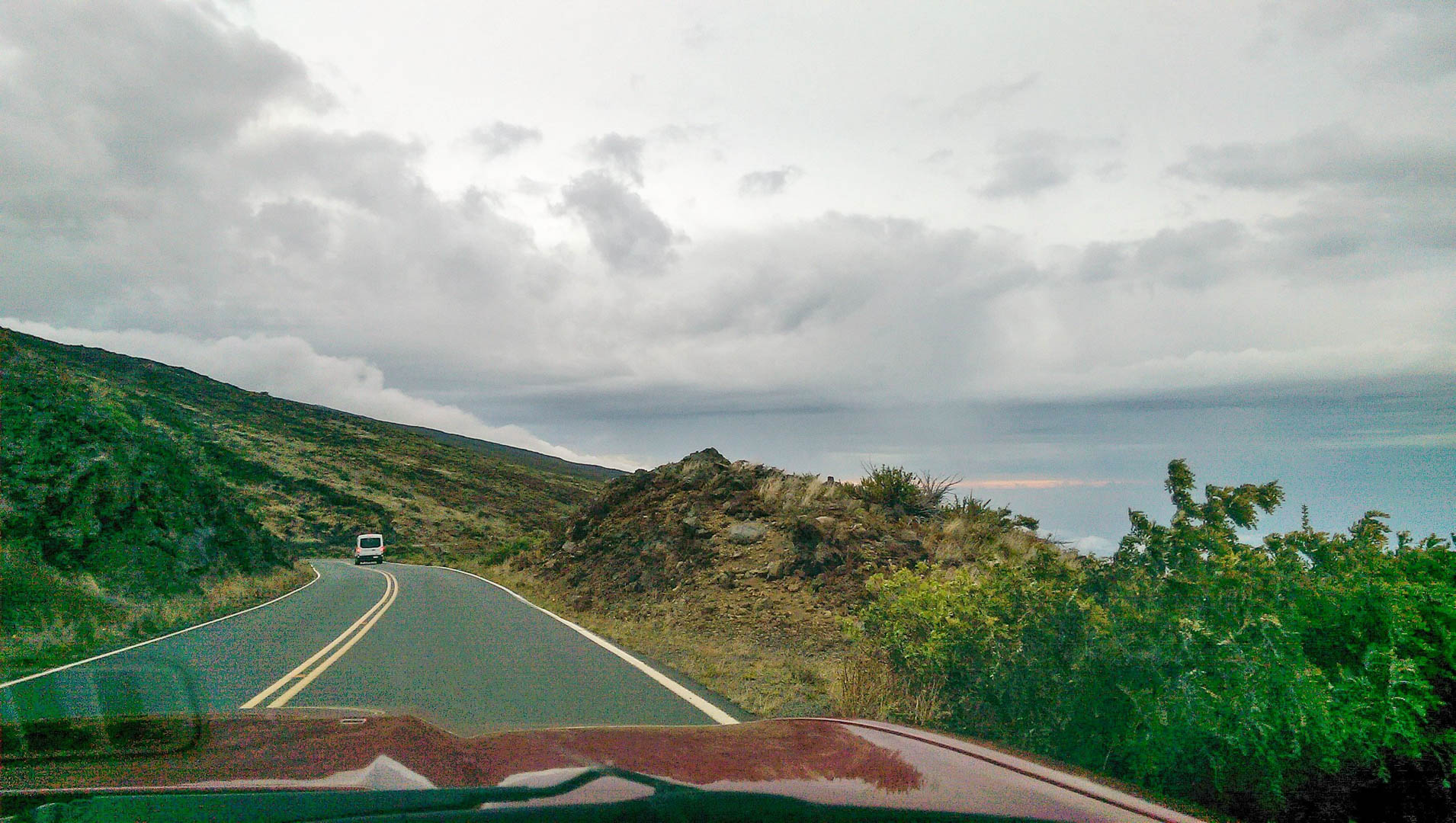 Driving up the mountain