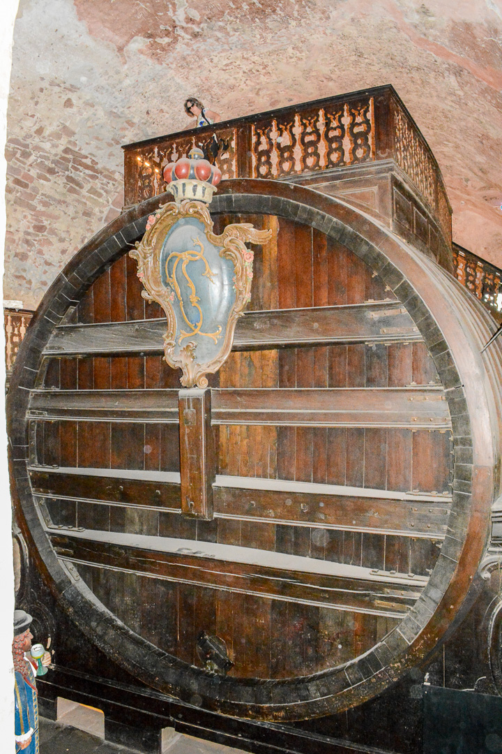 The world's largest wine barrel holds 58,124 gallons!!