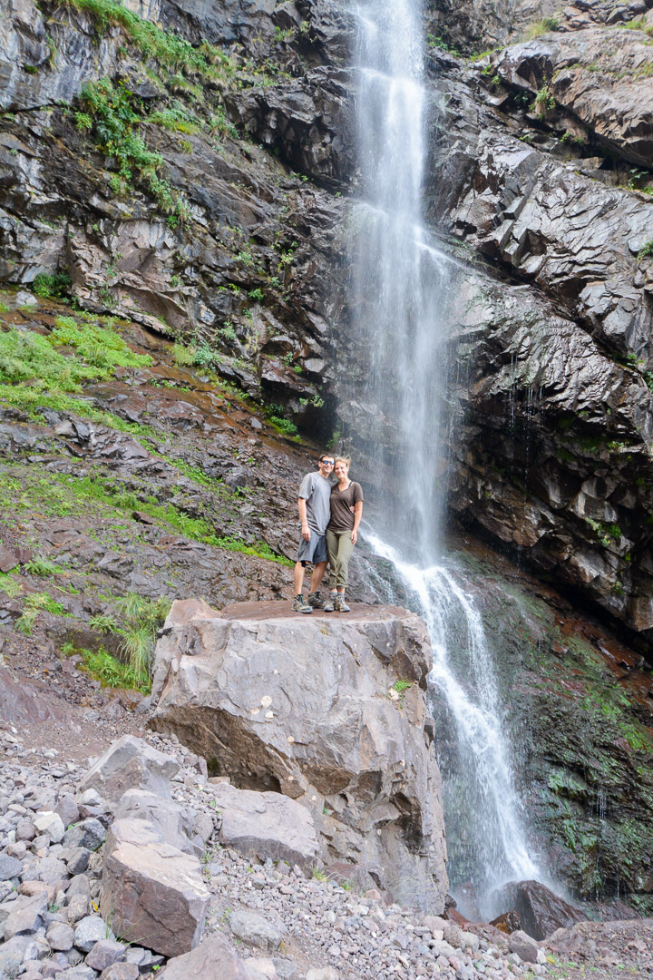 The waterfall was huge! The picture below doesn't do it justice, but this picture puts things into perspective