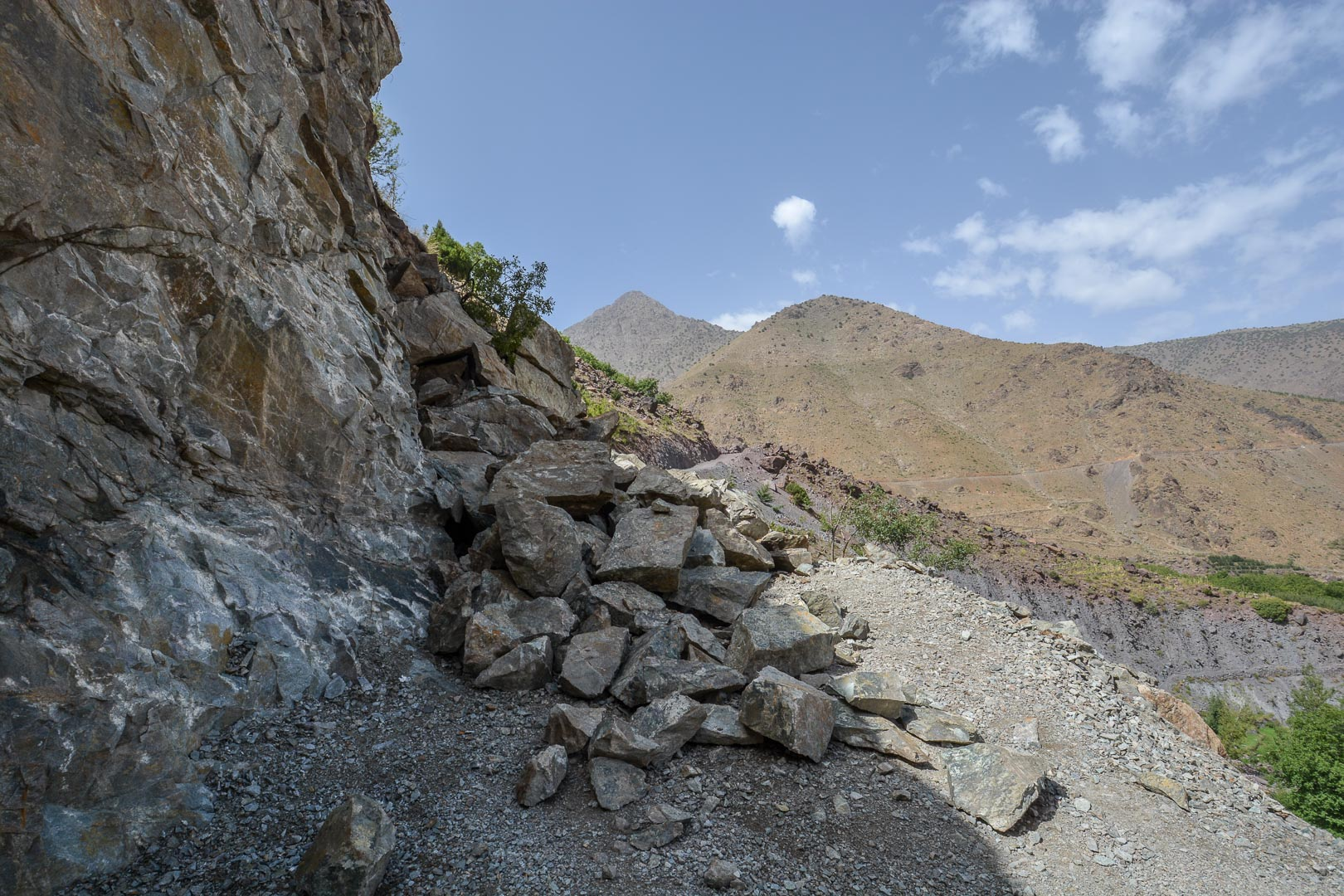 Rockslide blocking our path!