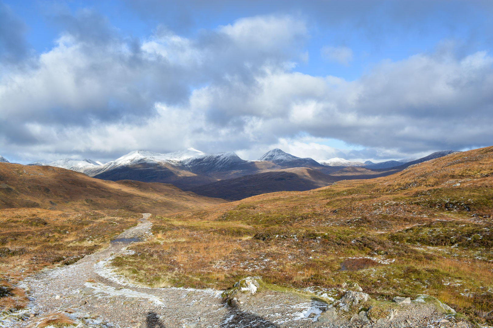 At the top of the highest pass of the trail…the devil's staircase (the name is way more intimidating than the climb)
