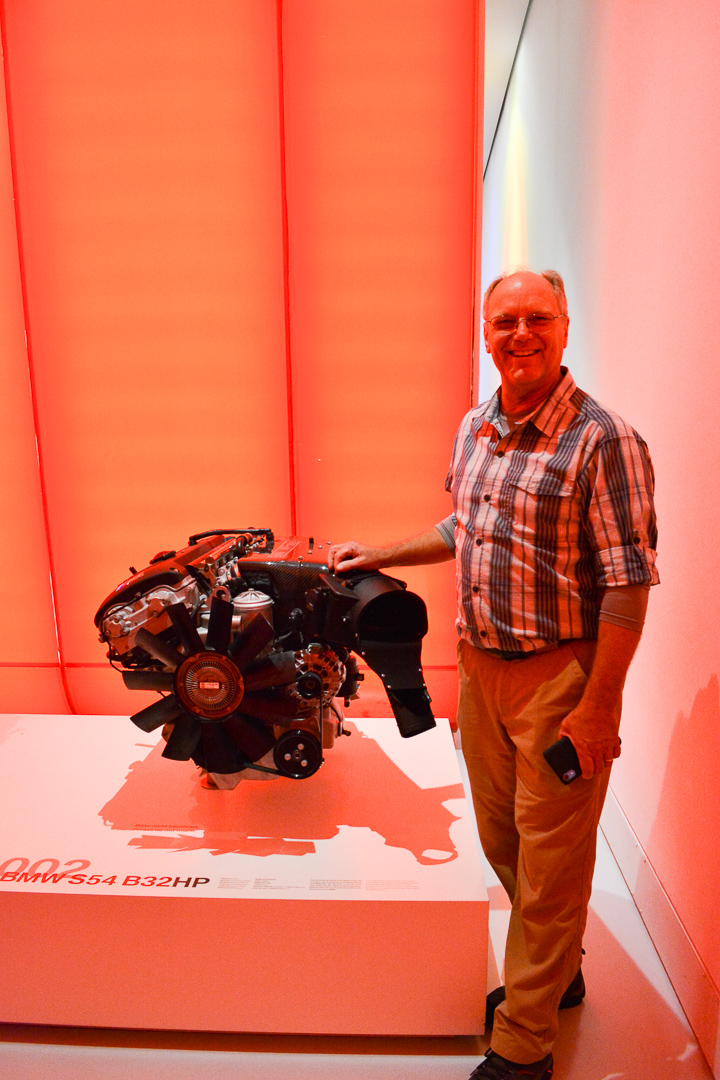 Dad in front of his BMW engine!