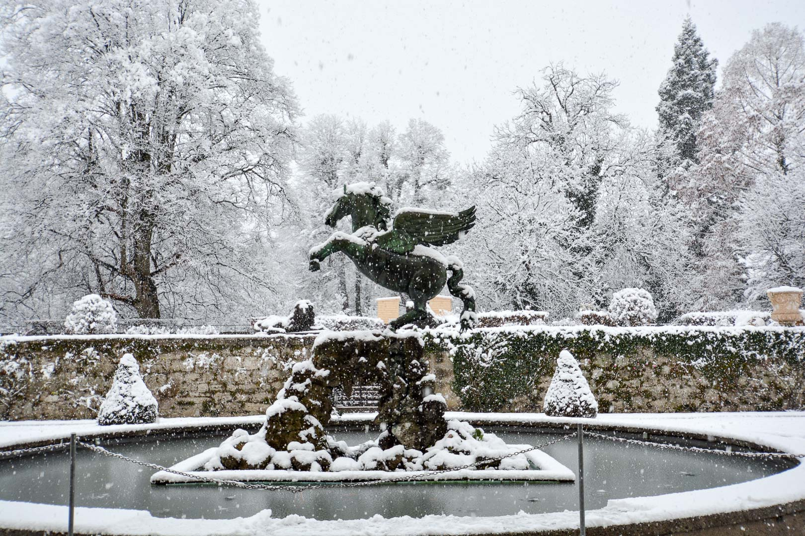 Next time you watch Sound of Music, be on the lookout for this fountain!