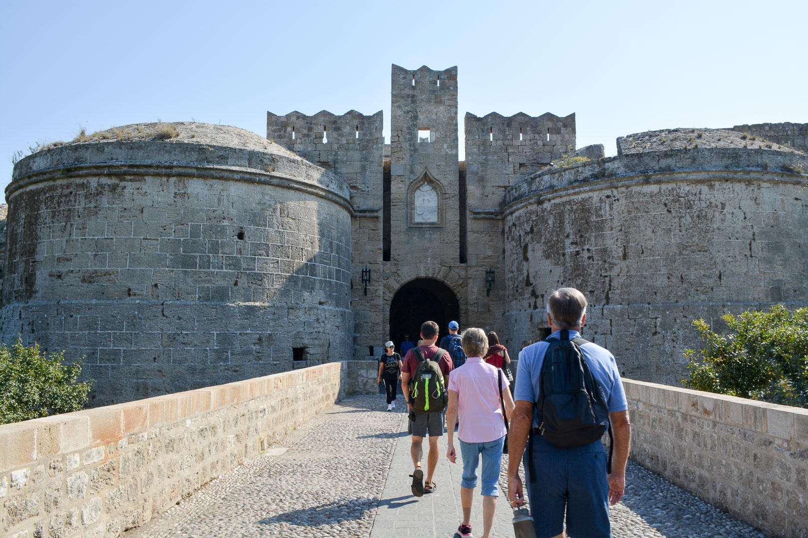 There are only a few entrances into the old city