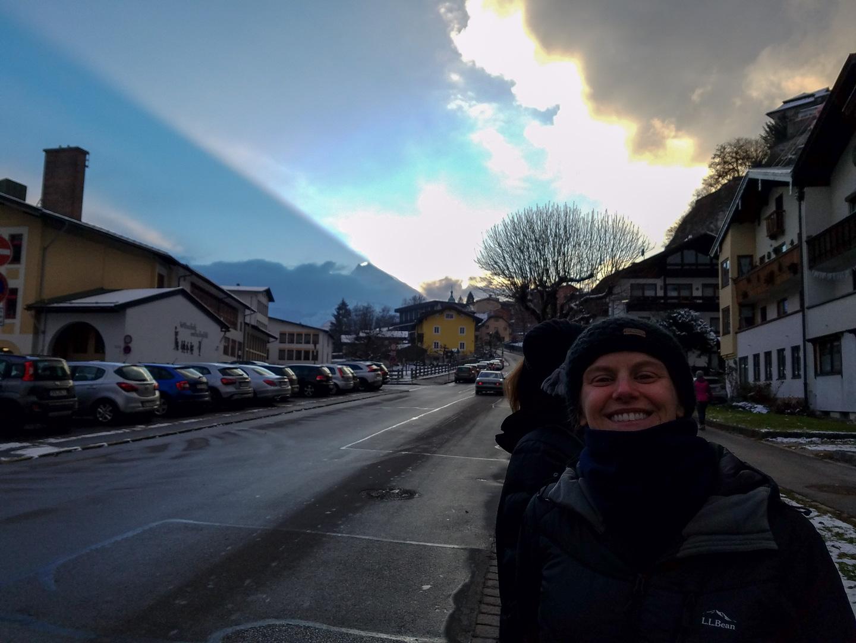 Weird beam of light in the sky!