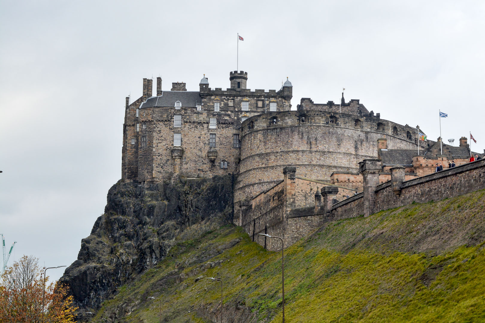 Edinburgh Castle was built on top of an old volcano! This picture gives a nice view of the Castle on the rock