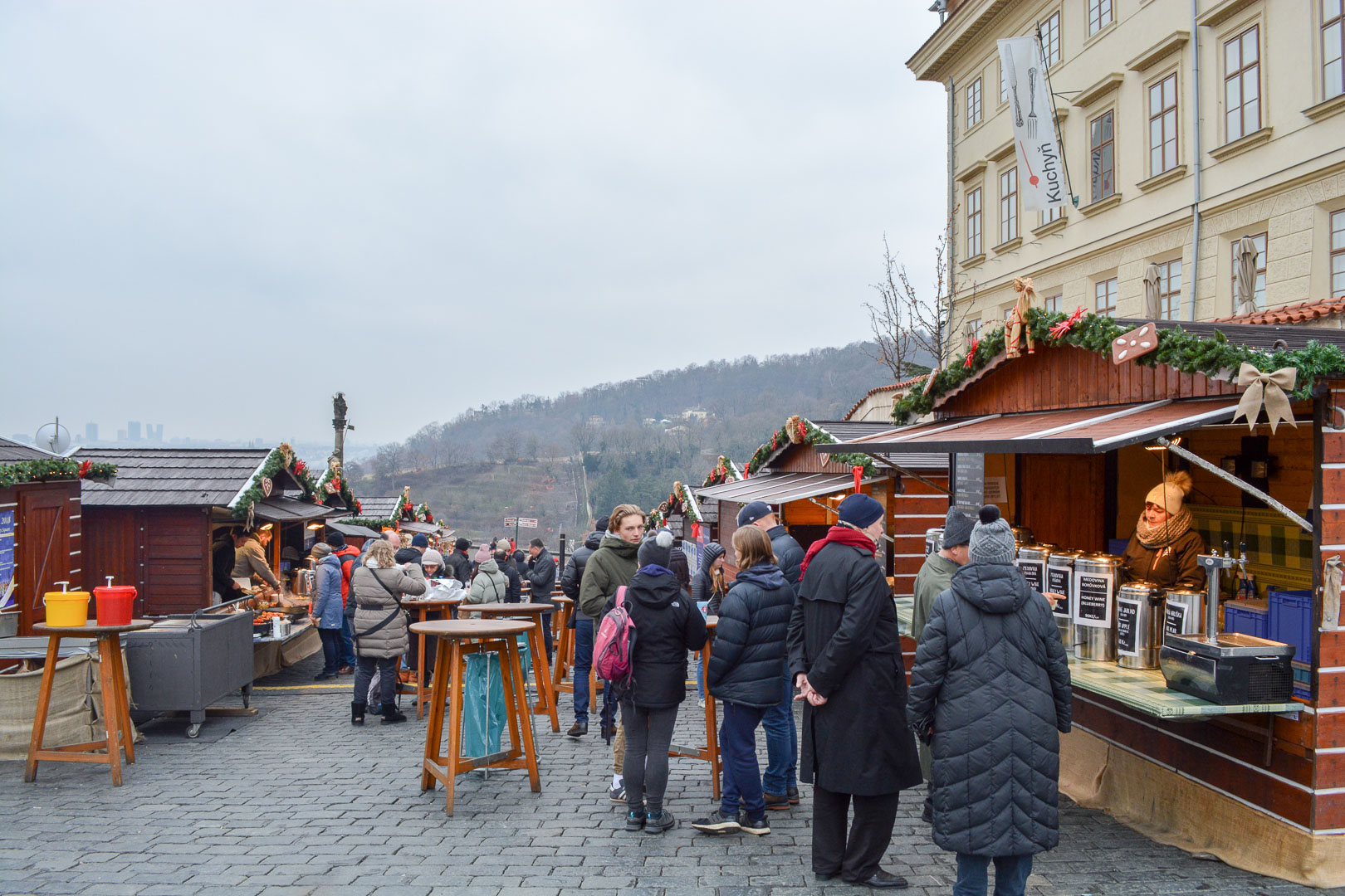 Christmas Market outside of Prague Castle