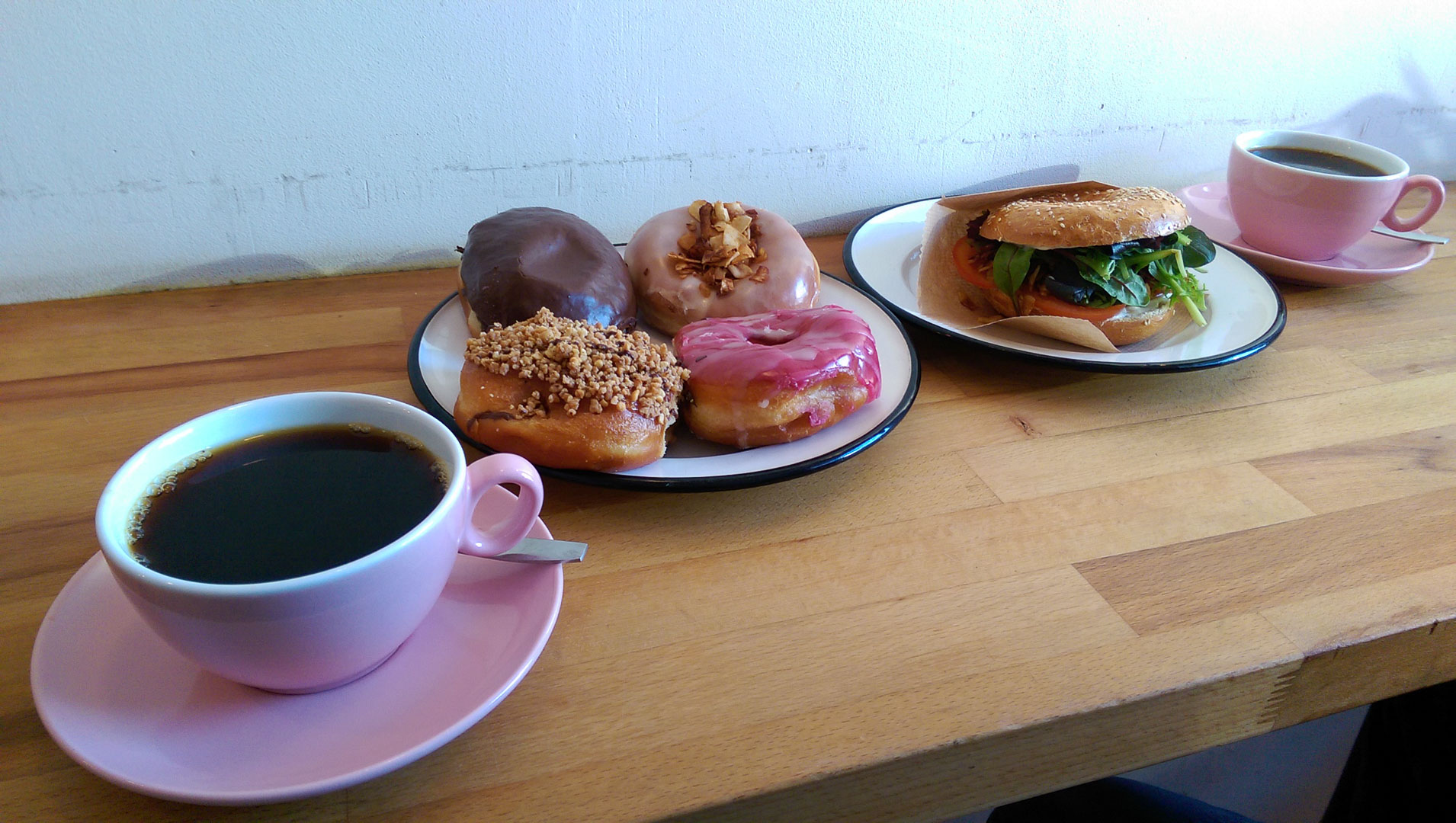 Doughnuts, bagels, and coffee…hubba hubba