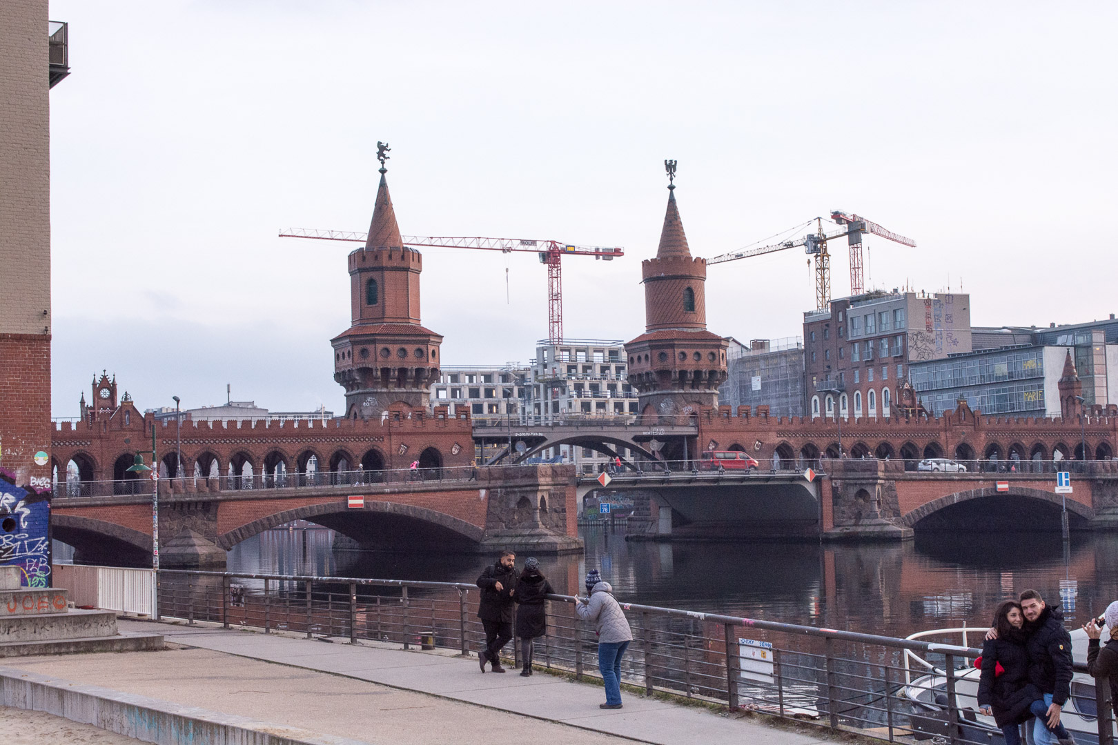 Oberbaum Bridge in Berlin. It links East and West Garmany