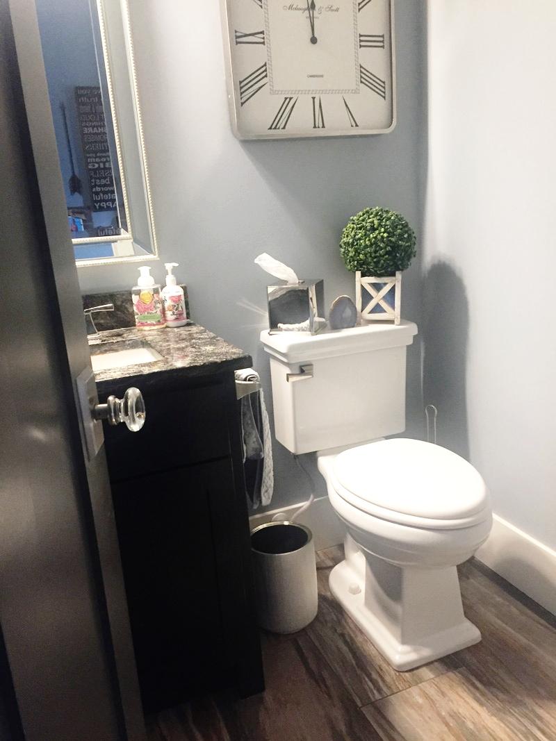 Keep bathrooms neat, lids down