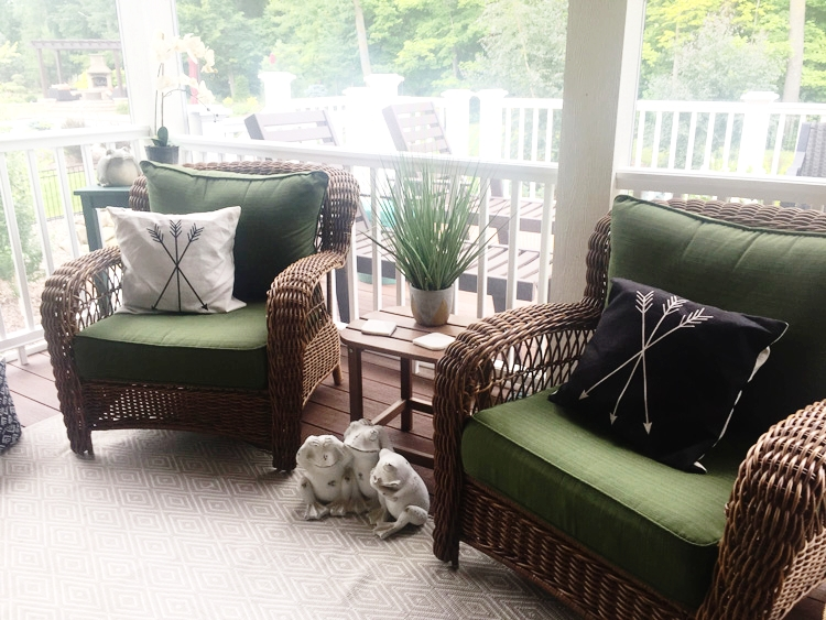 Put cushions out and pay attention to outside areas