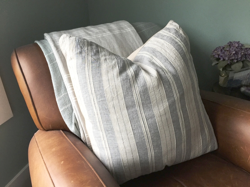 Pillow and bottom throw from HomeGoods
