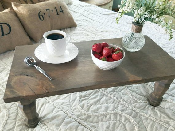A bed tray by Rustic Ranch Co.