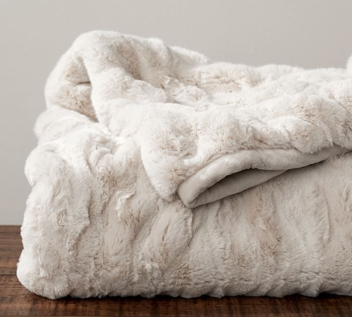 Faux fur throw from Pottery Barn