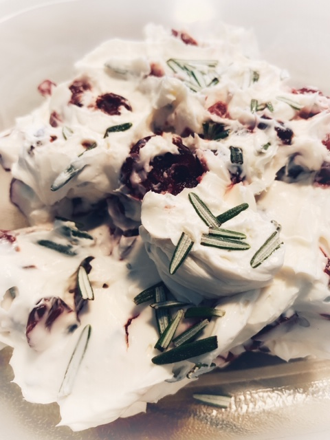 Craisin and Rosemary Cheese Spread