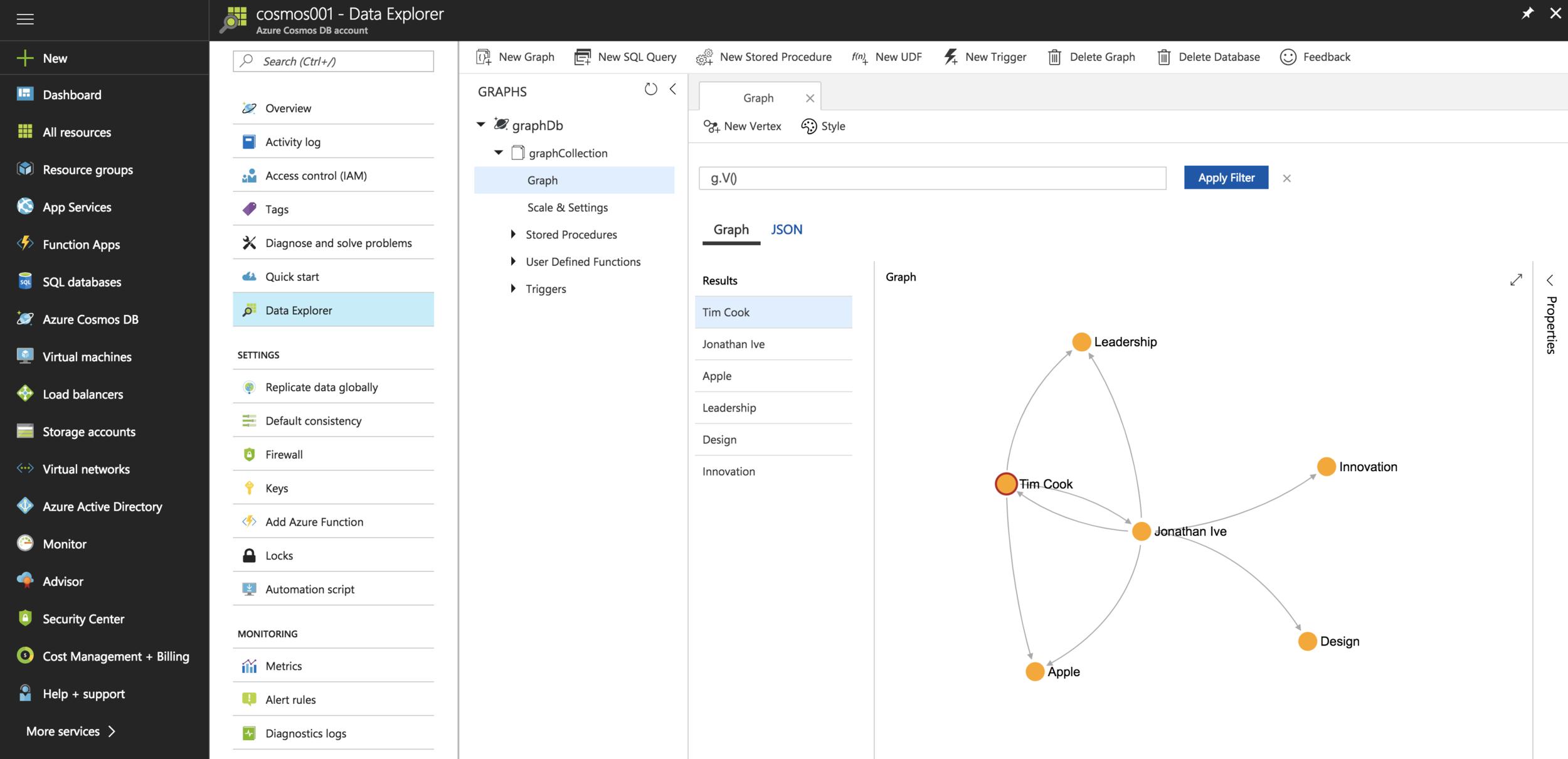 Azure Cosmos DB Graph API with Python — Taygan