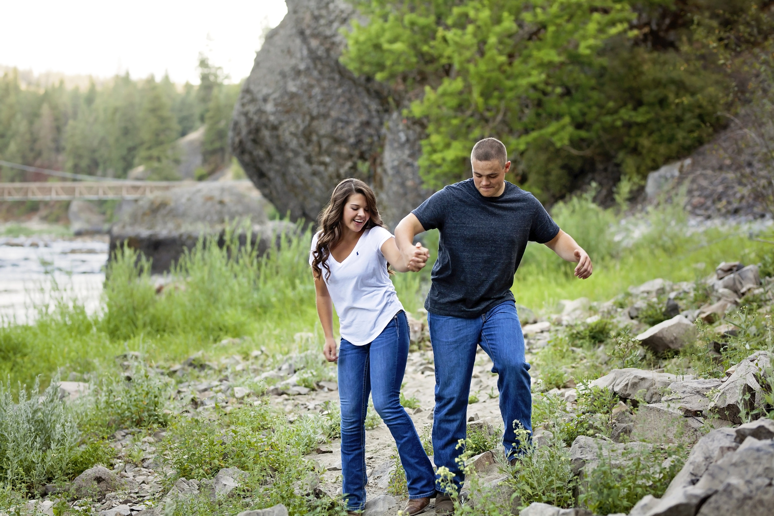 Cheney couple get engagement pictures at Bowl and Pitcher Park in Spokane