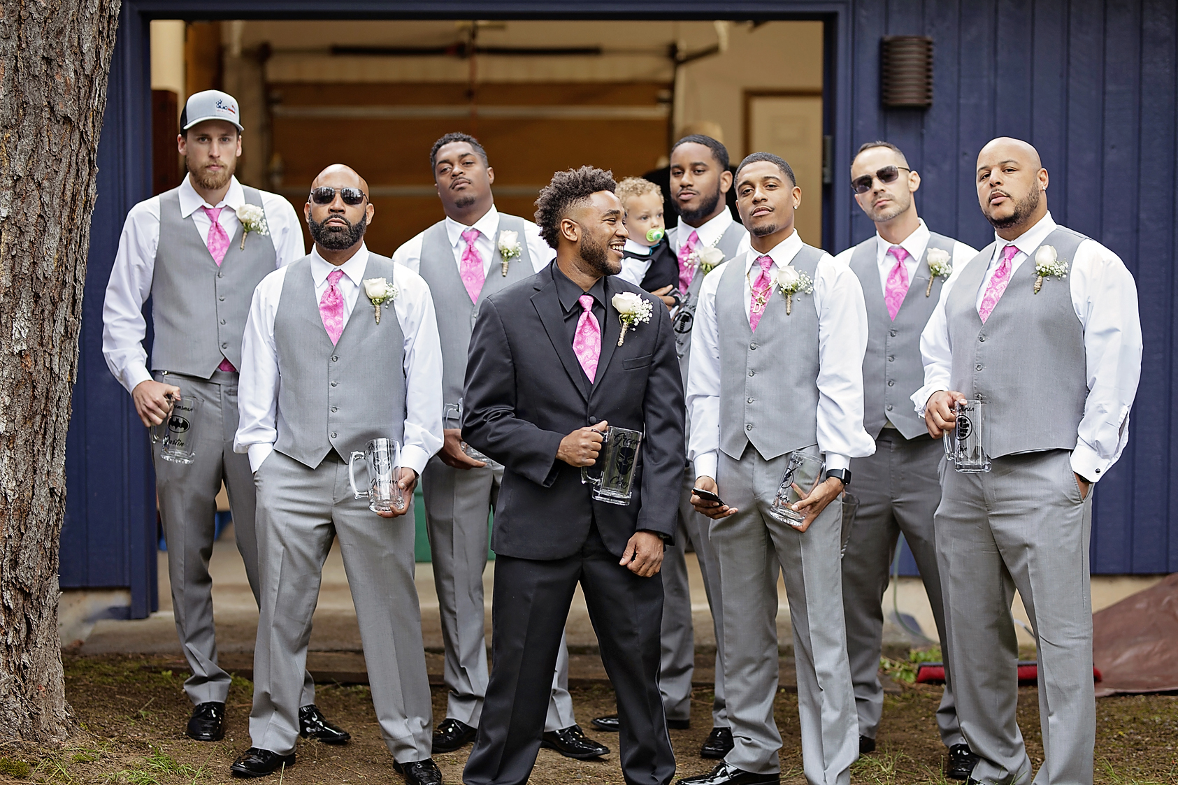 Cheney wedding photographer Nate Robinson Photography, taking groomsmen pictures