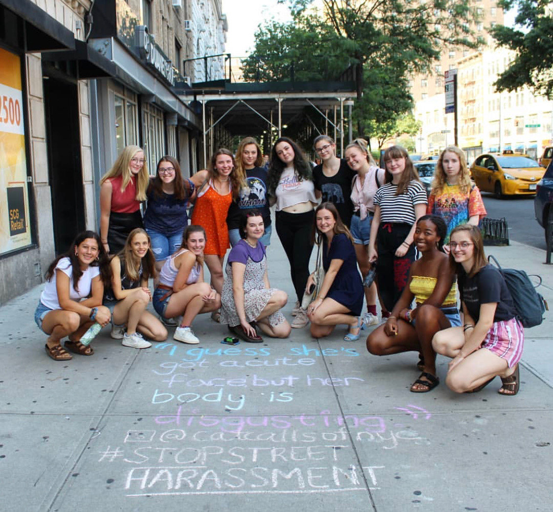Sophie, founder of Catcalls of NYC, led a workshop with the Think Peace GIrls Camp.
