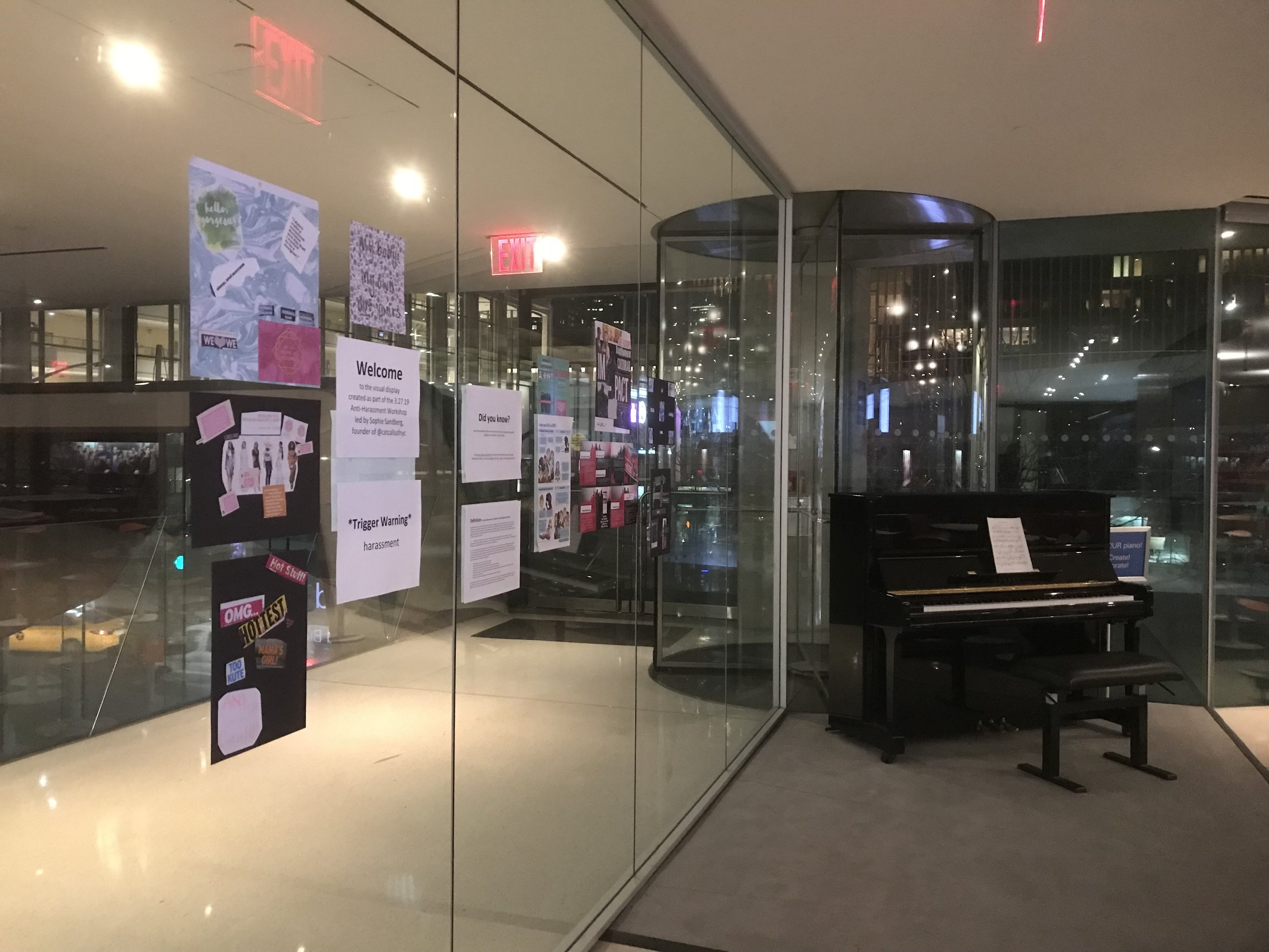 Sophie ran an anti-harassment workshop at Juilliard School of Music and spoke about Catcalls of NYC and creative methods of resistance.
