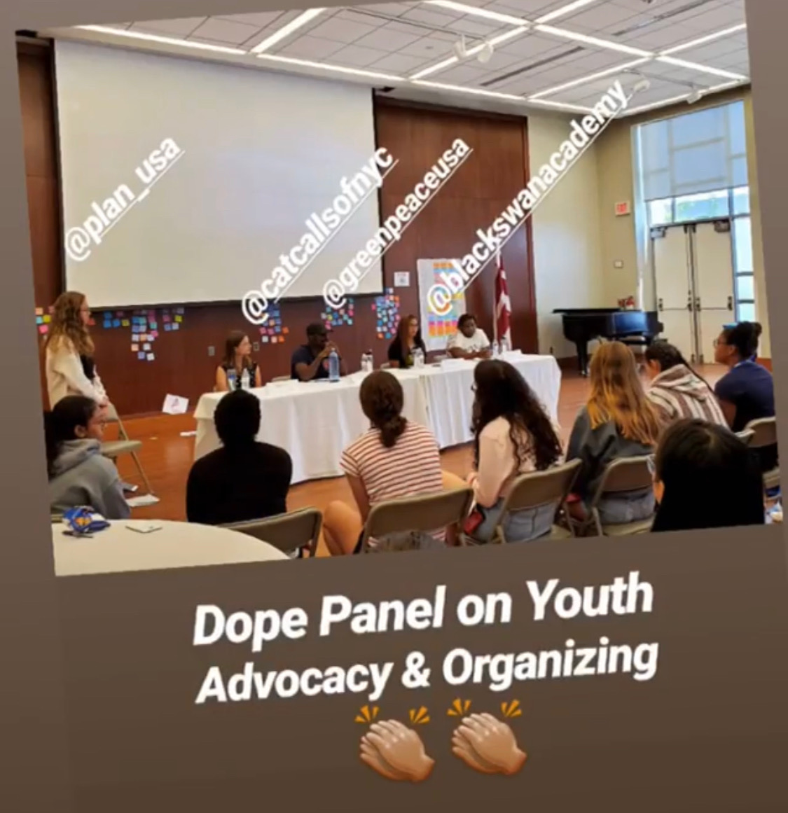 Sophie spoke on a panel on Youth Advocacy and Organizing about Catcalls of NYC put on by Plan International in Washington, DC.