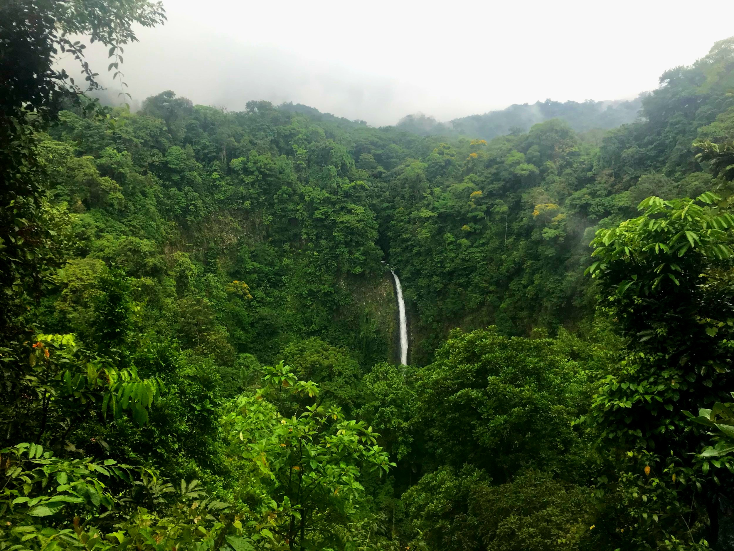 A waterfall in La Fortuna, Costa Rica.