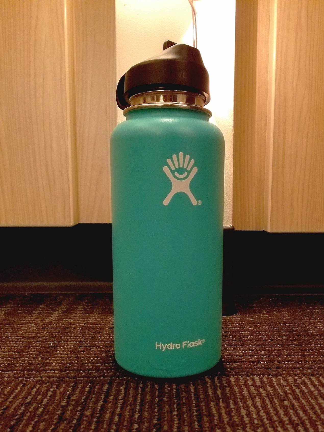 A Hydro Flask stainless steel water bottle. Photo Credit: Meagann Russell