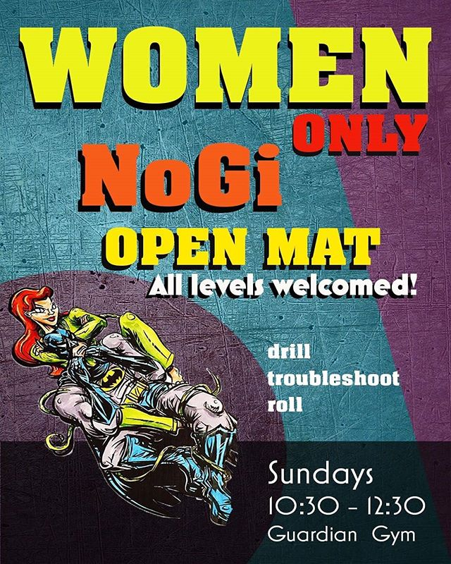 @suzieleung runs a great open mat for women only every Sunday at 10:30am  at @guardiangym in #oakland you should drop in and check it out
